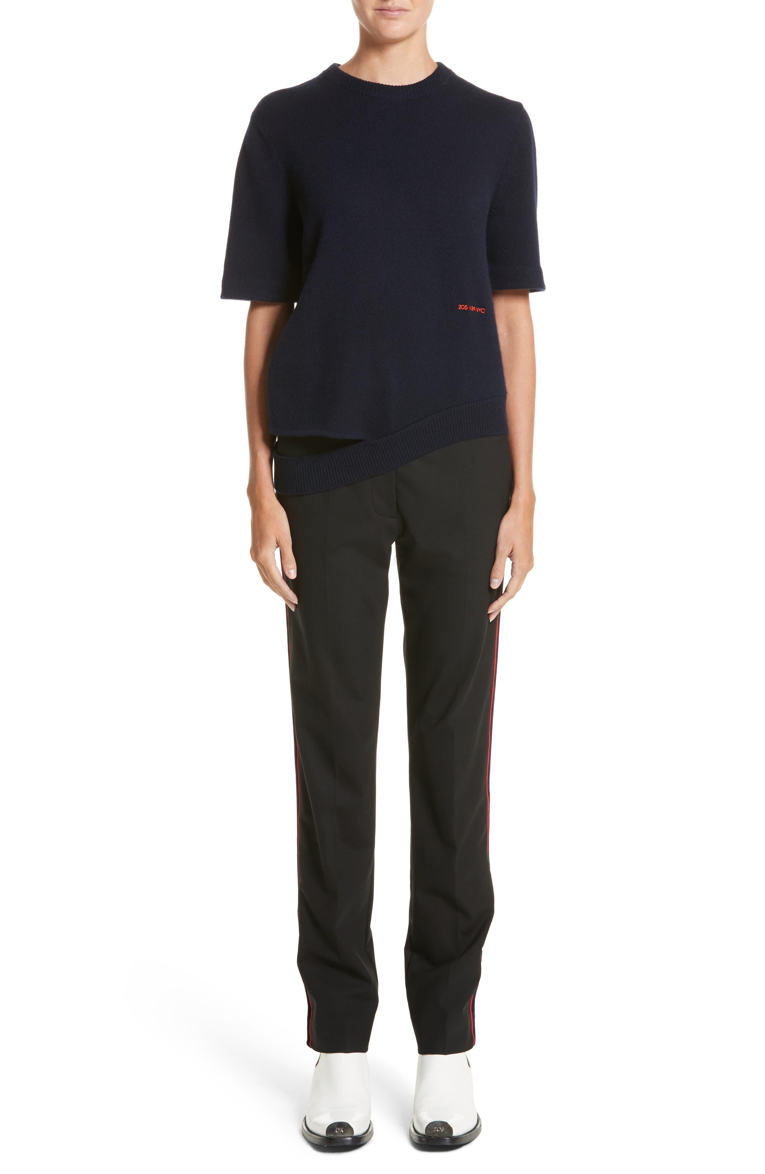 Alternate Image 11  - CALVIN KLEIN 205W39NYC Velvet Stripe Stretch Wool Pants