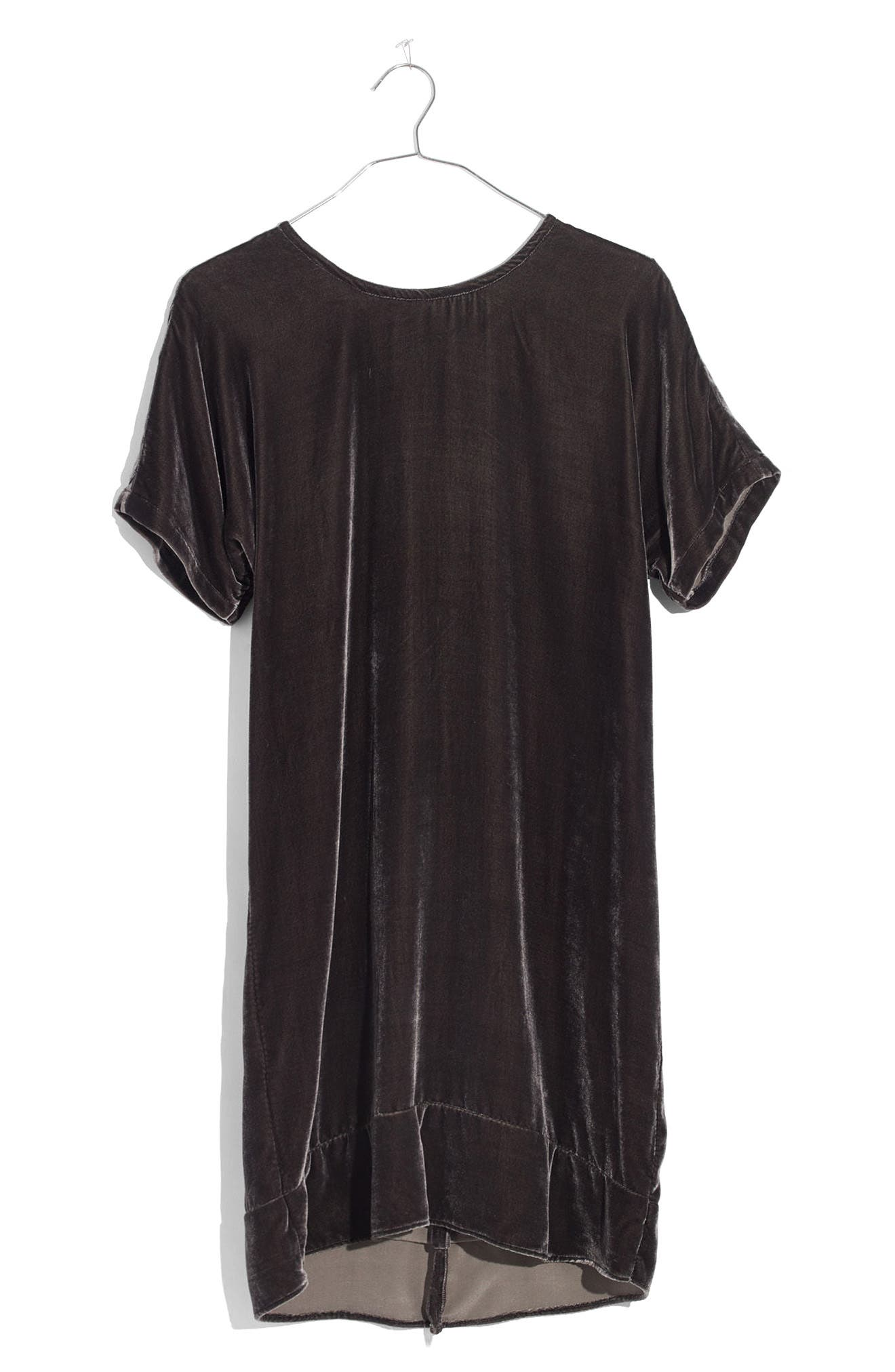 Alternate Image 4  - Madewell Velvet Bow Back Shift Dress
