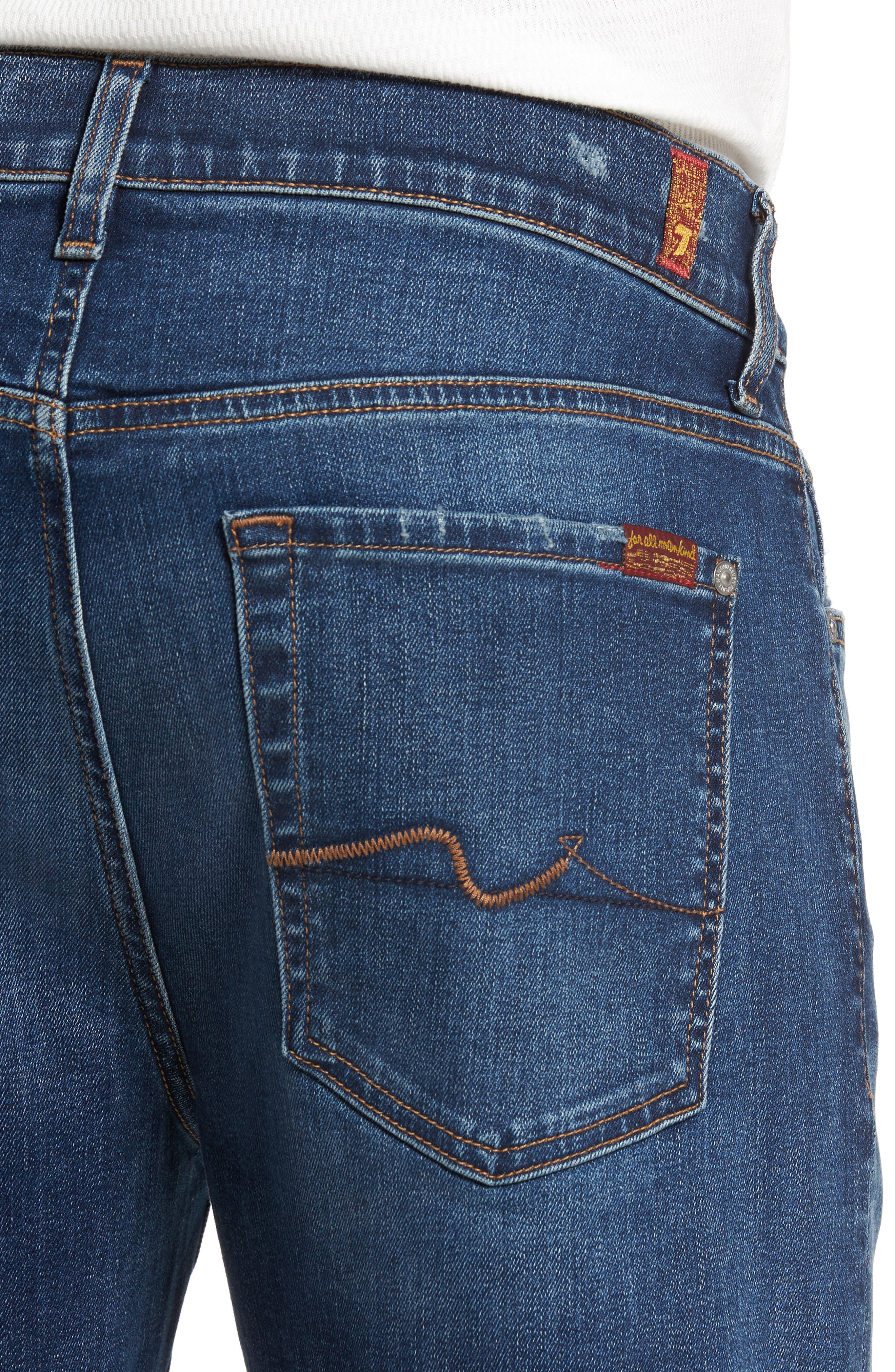 Alternate Image 4  - 7 For All Mankind® Slimmy Slim Fit Jeans (Union)