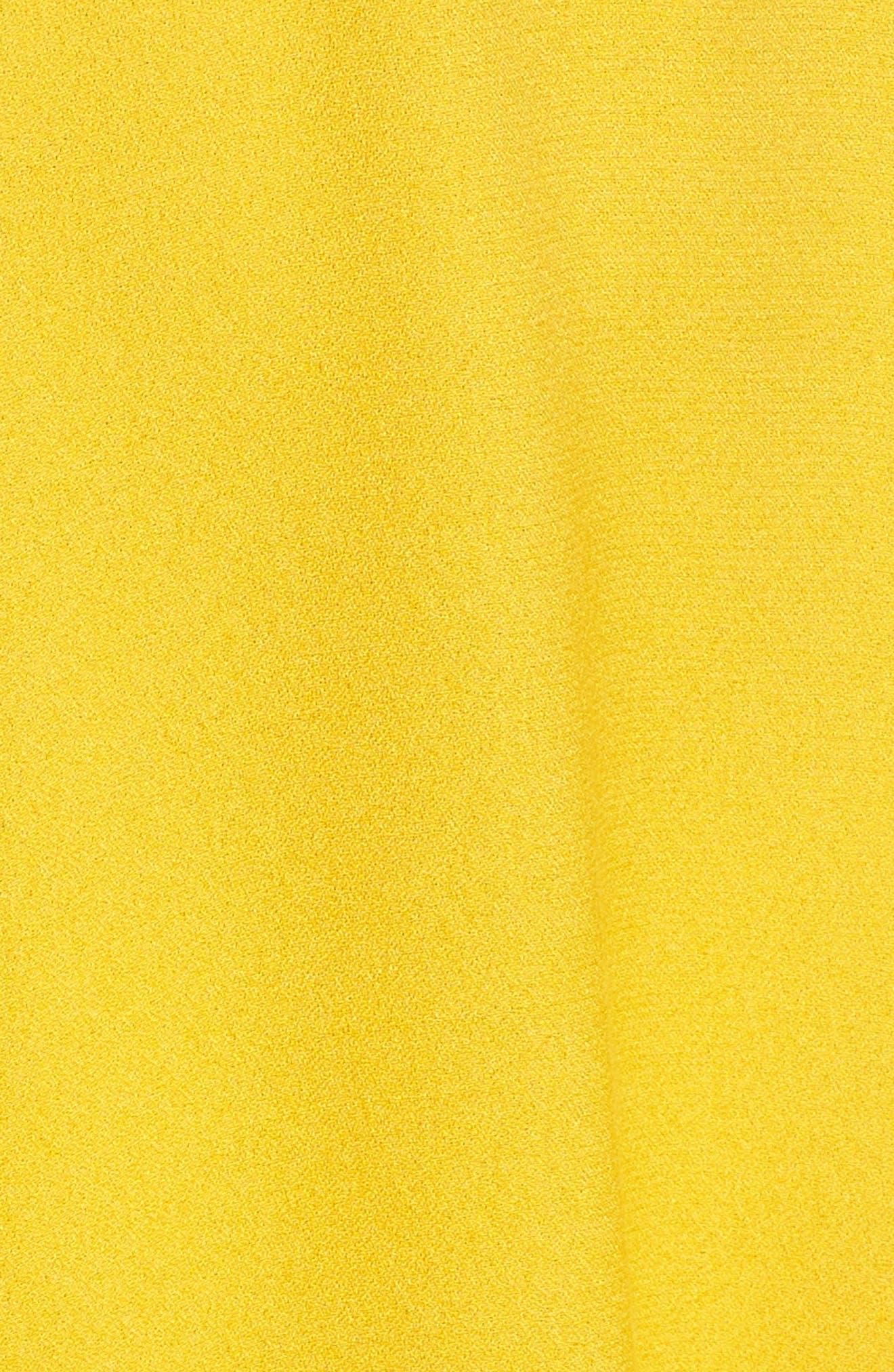 Enzo Cold Shoulder Fit & Flare Dress,                             Alternate thumbnail 5, color,                             Sun