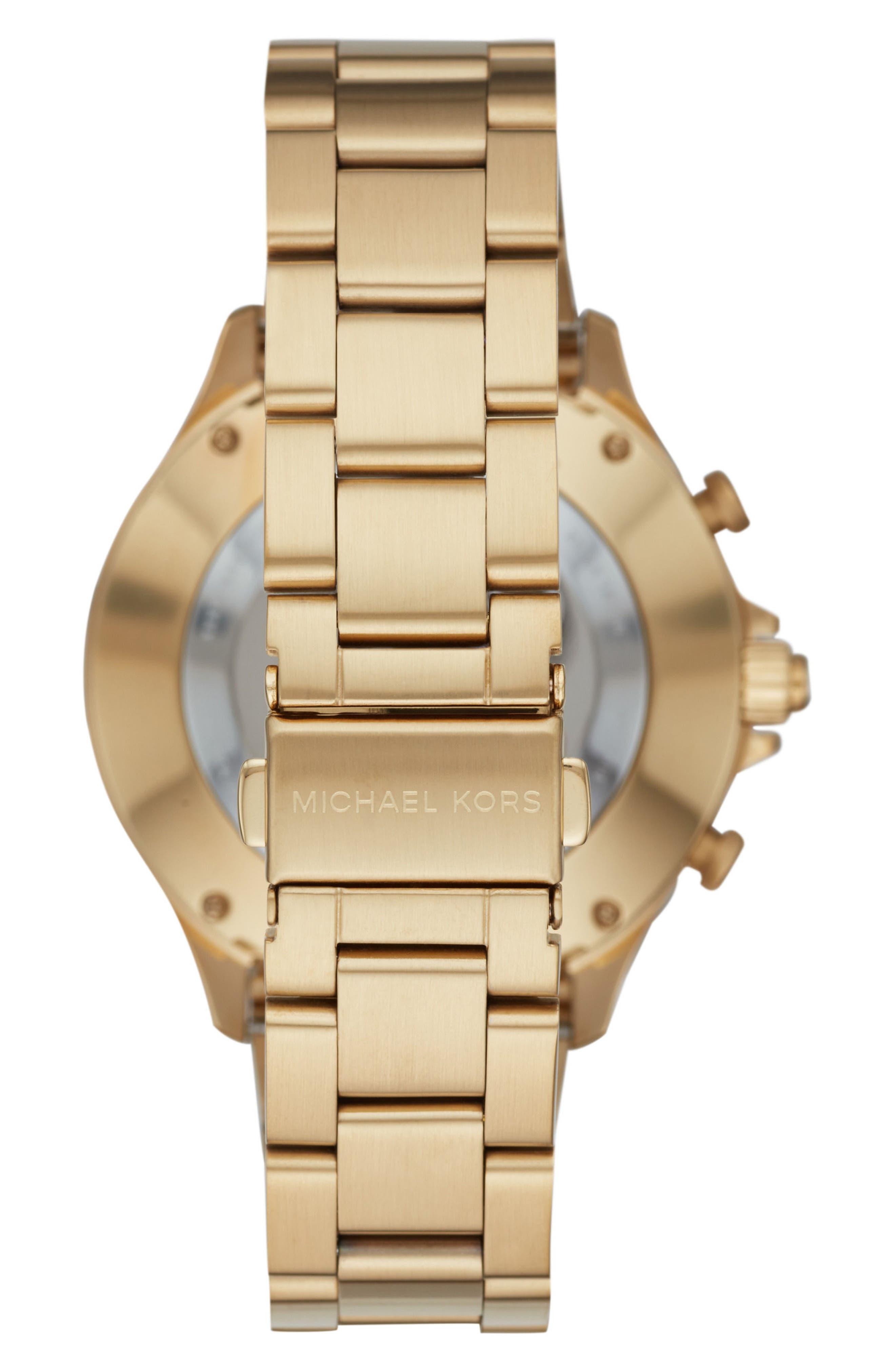 Reid Hybrid Bracelet Watch, 45mm,                             Alternate thumbnail 2, color,                             Gold/ Black/ Gold