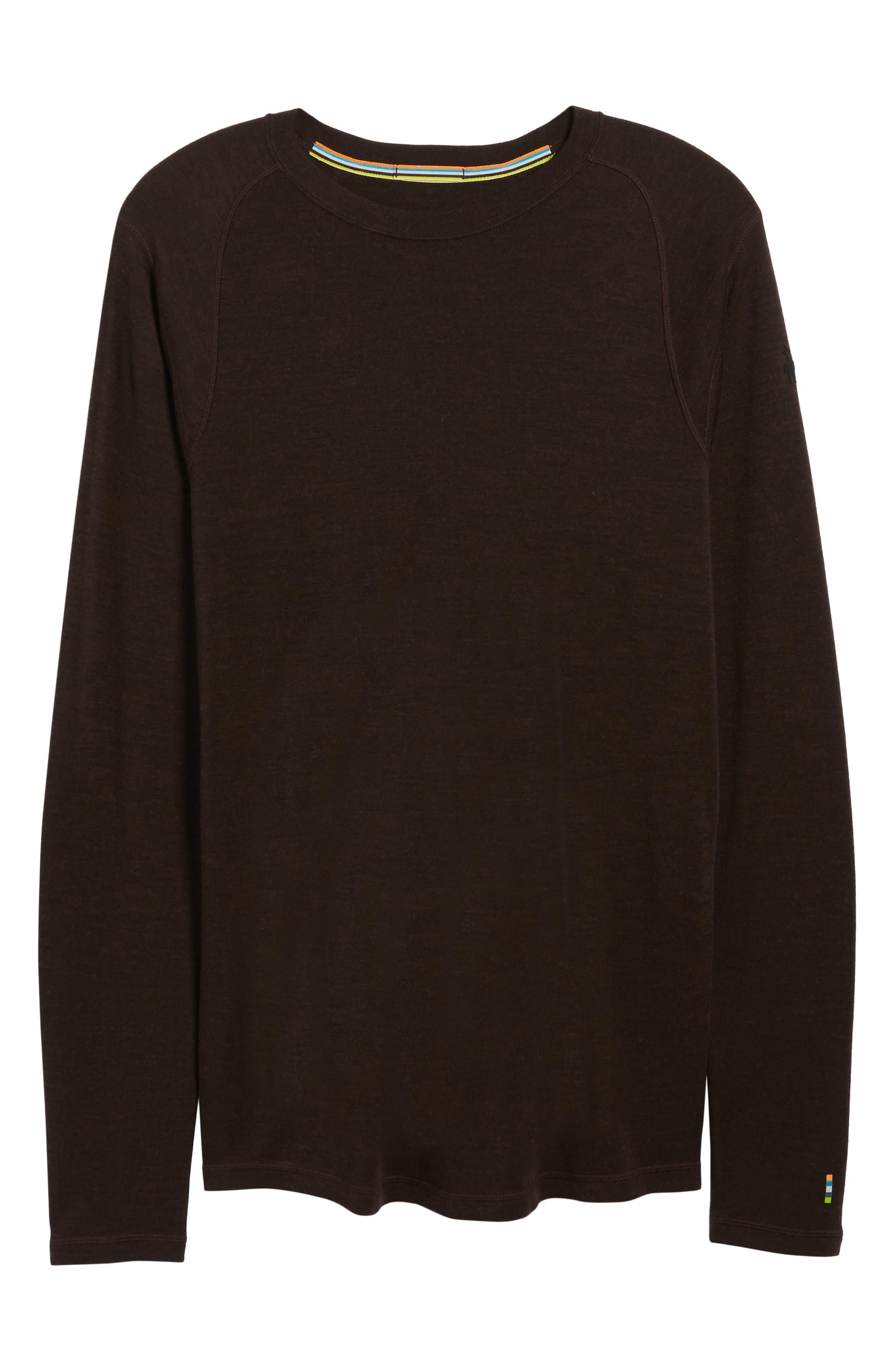 Merino 250 Base Layer Crewneck T-Shirt,                             Alternate thumbnail 6, color,                             Sumatra Heather