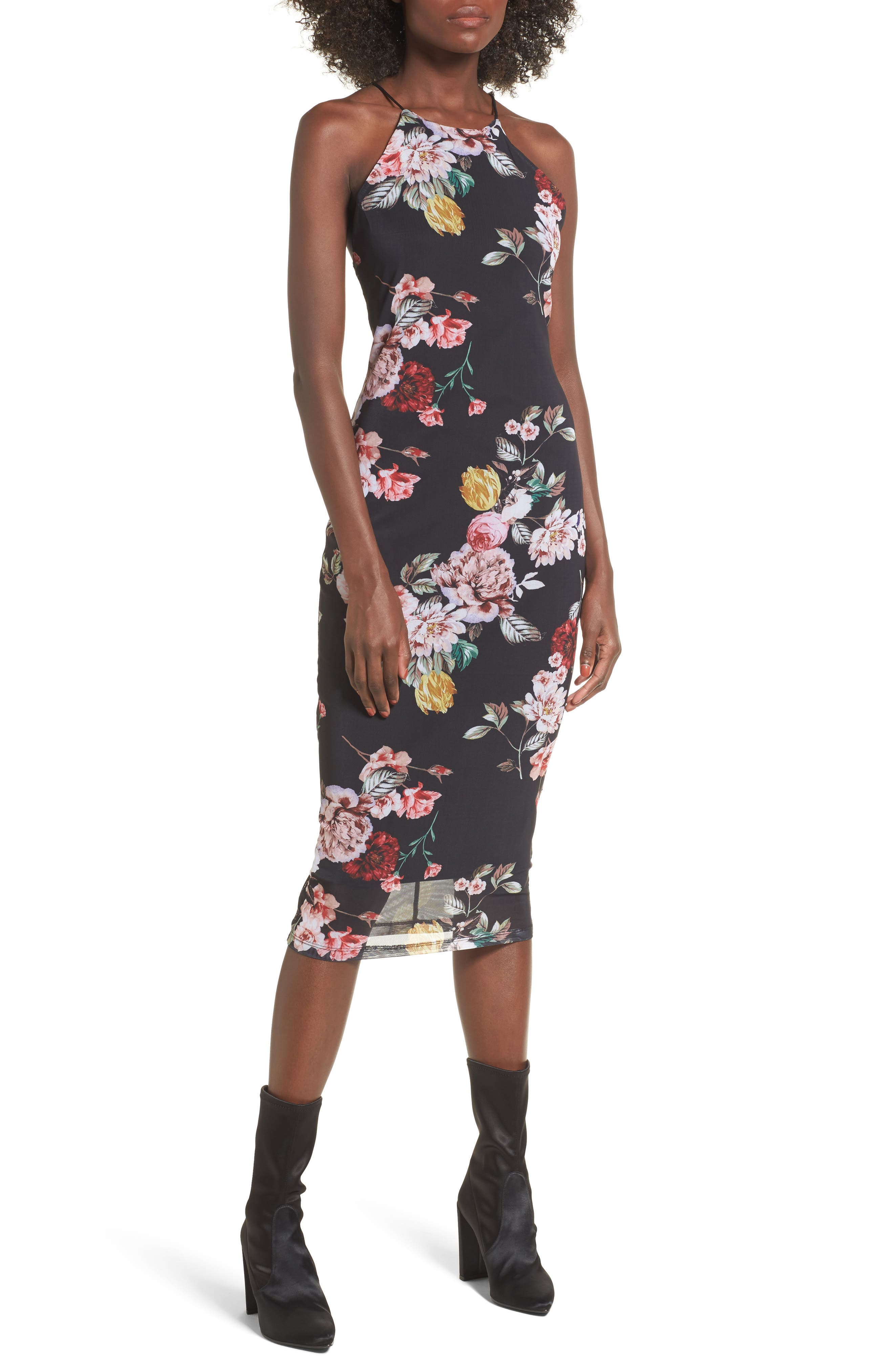 Ryder Body-Con Dress,                         Main,                         color, Primrose Noir