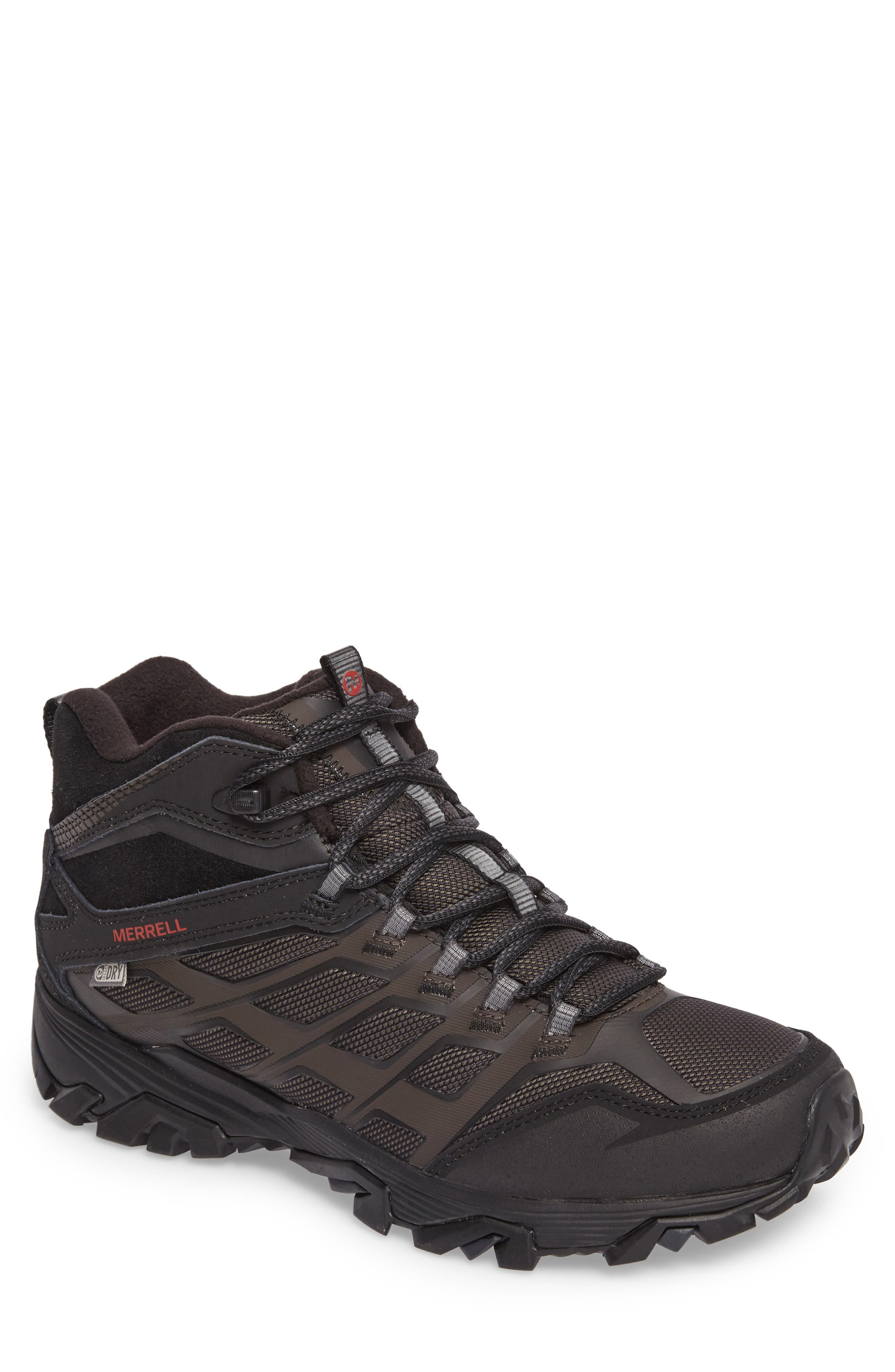Moab FST Ice Thermo Waterproof Hiking Shoe,                         Main,                         color, Black Fabric