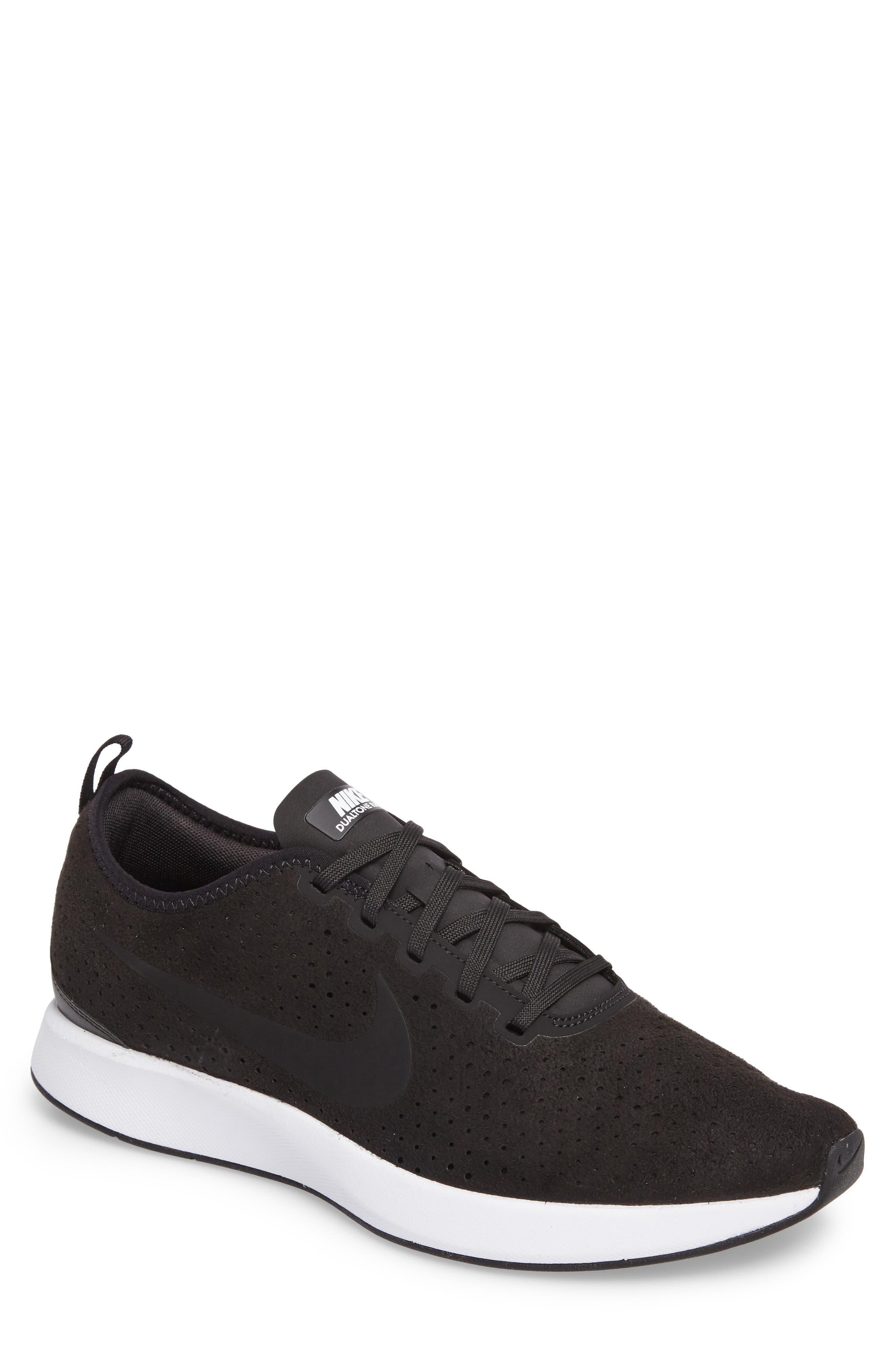 Dualtone Racer Premium Sneaker,                             Main thumbnail 1, color,                             Black/Black/White