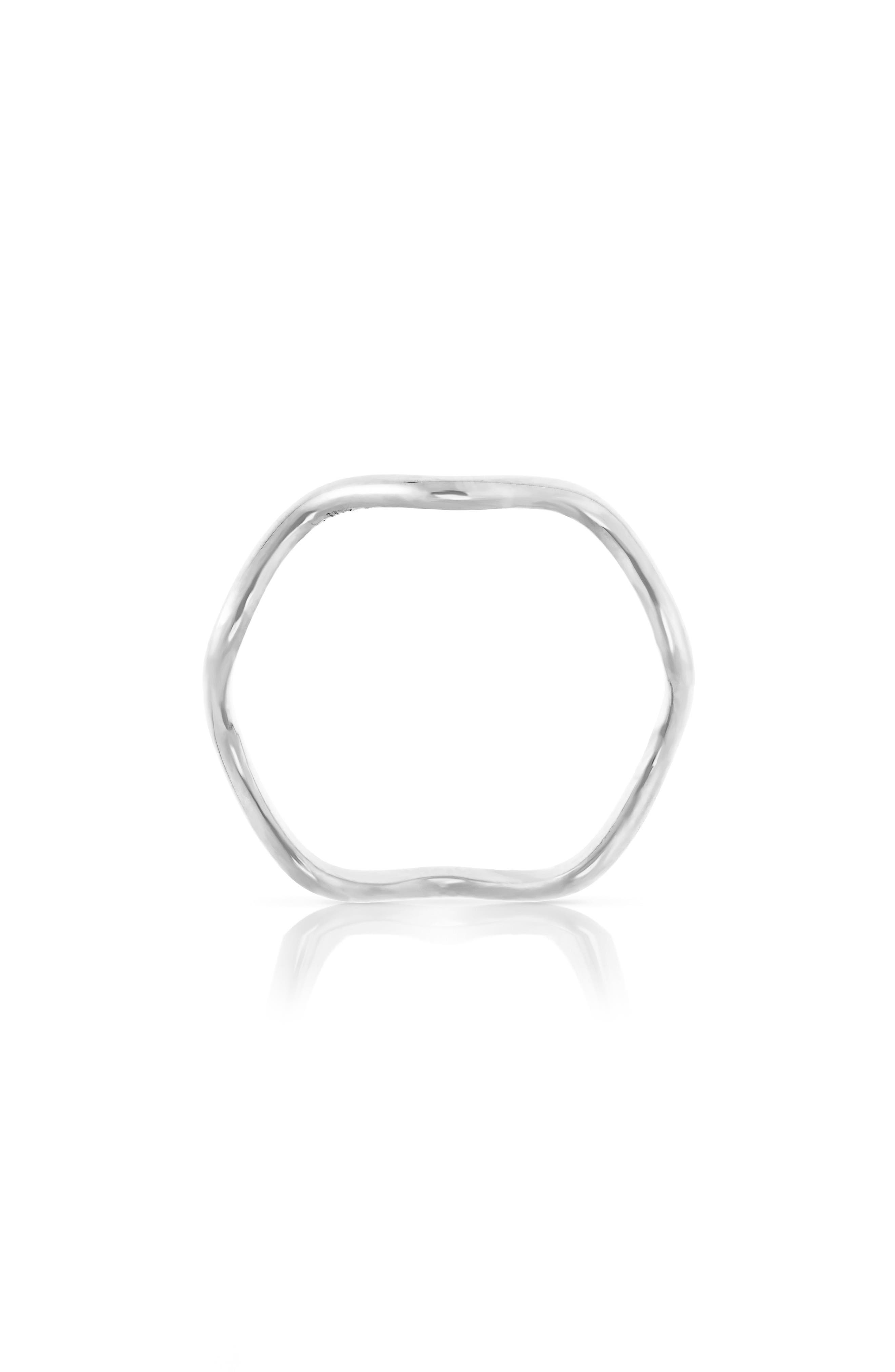 Baby Memphis Wave Band Ring,                             Alternate thumbnail 3, color,                             White Gold