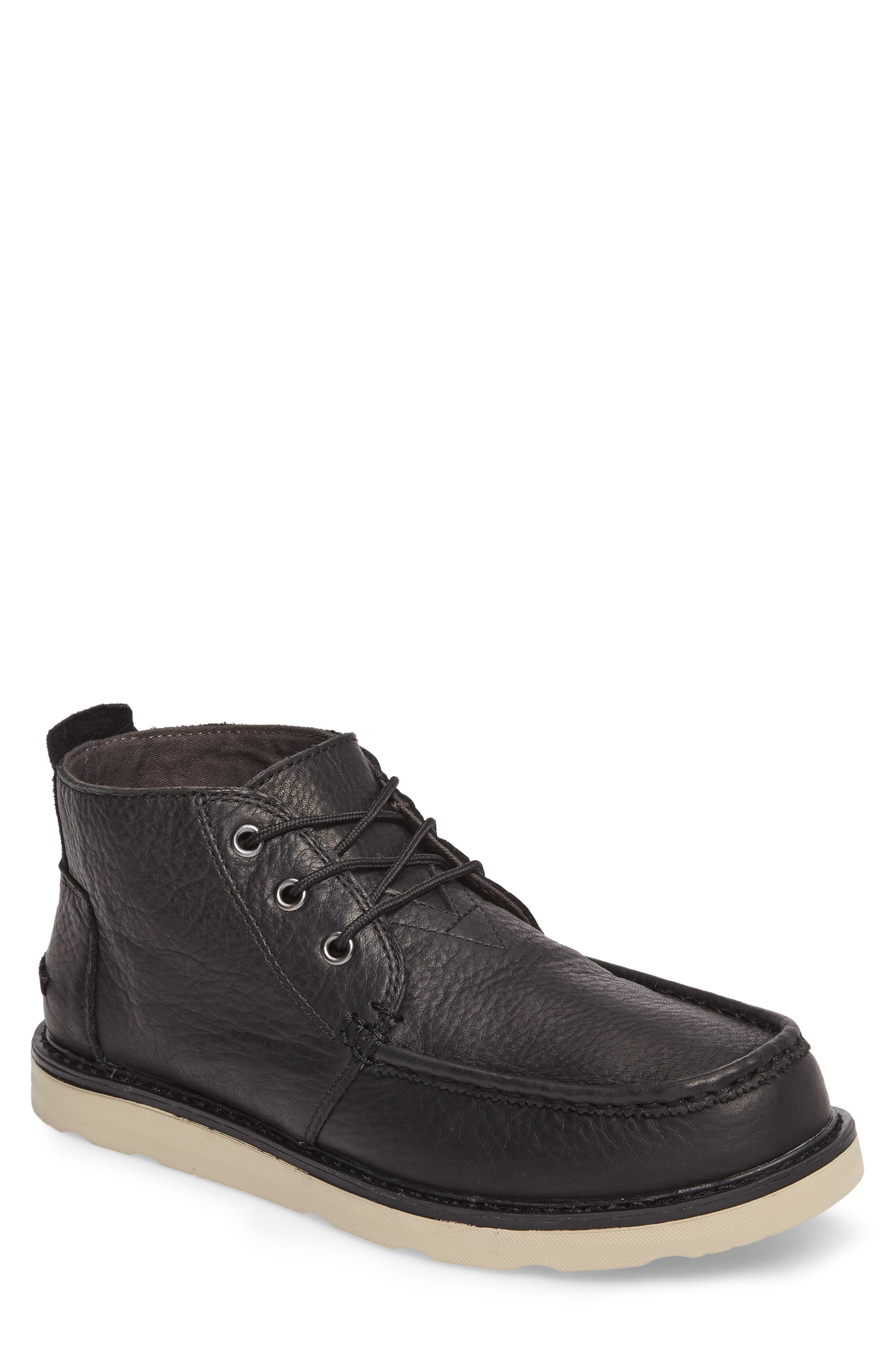 Chukka Boot,                             Main thumbnail 1, color,                             Black/Black Leather