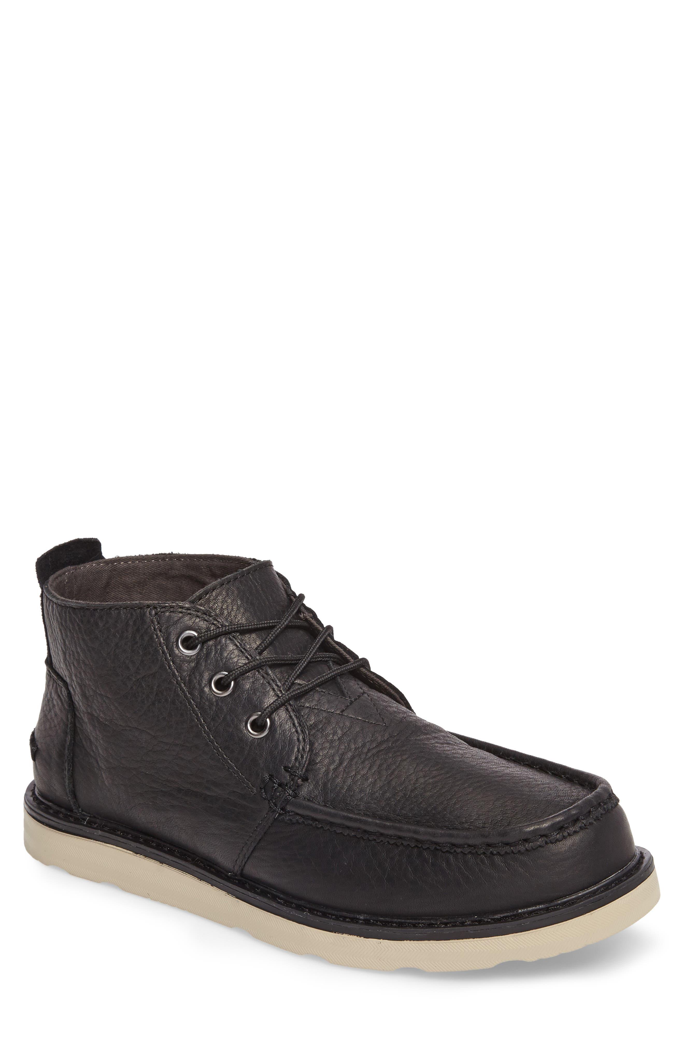 Chukka Boot,                         Main,                         color, Black/Black Leather