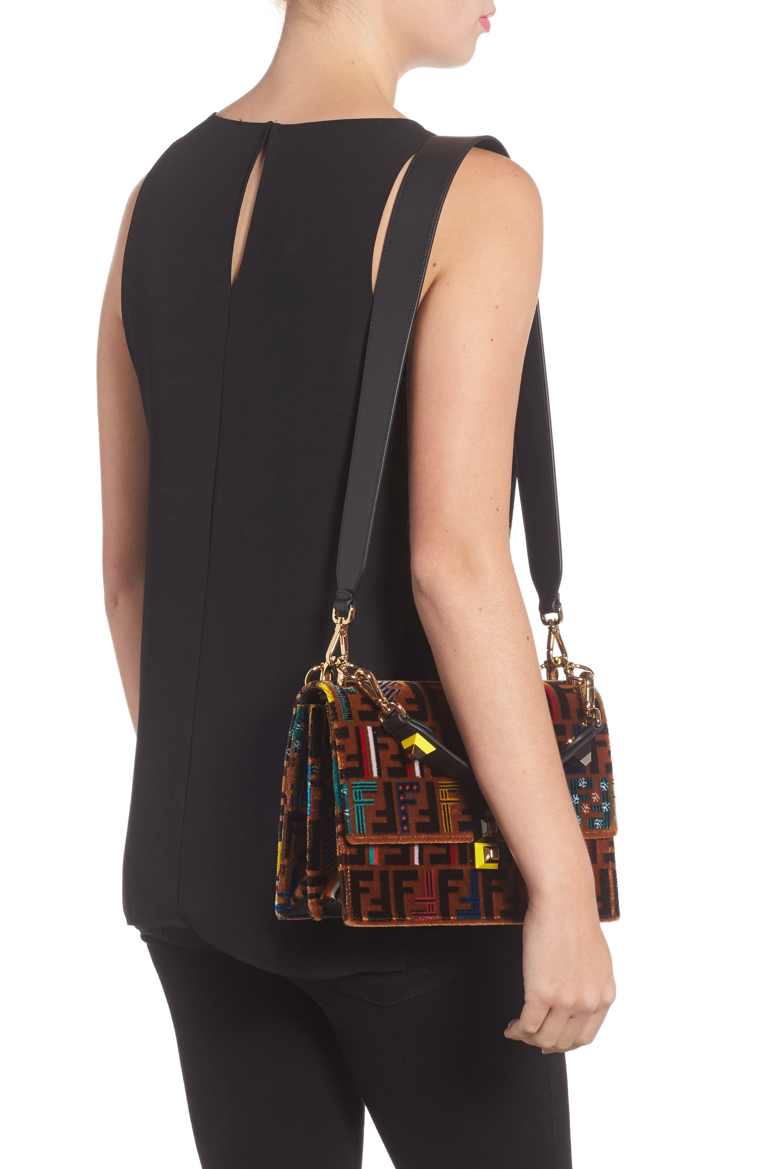 Alternate Image 2  - Fendi Kan I Tappetino Velvet Shoulder Bag
