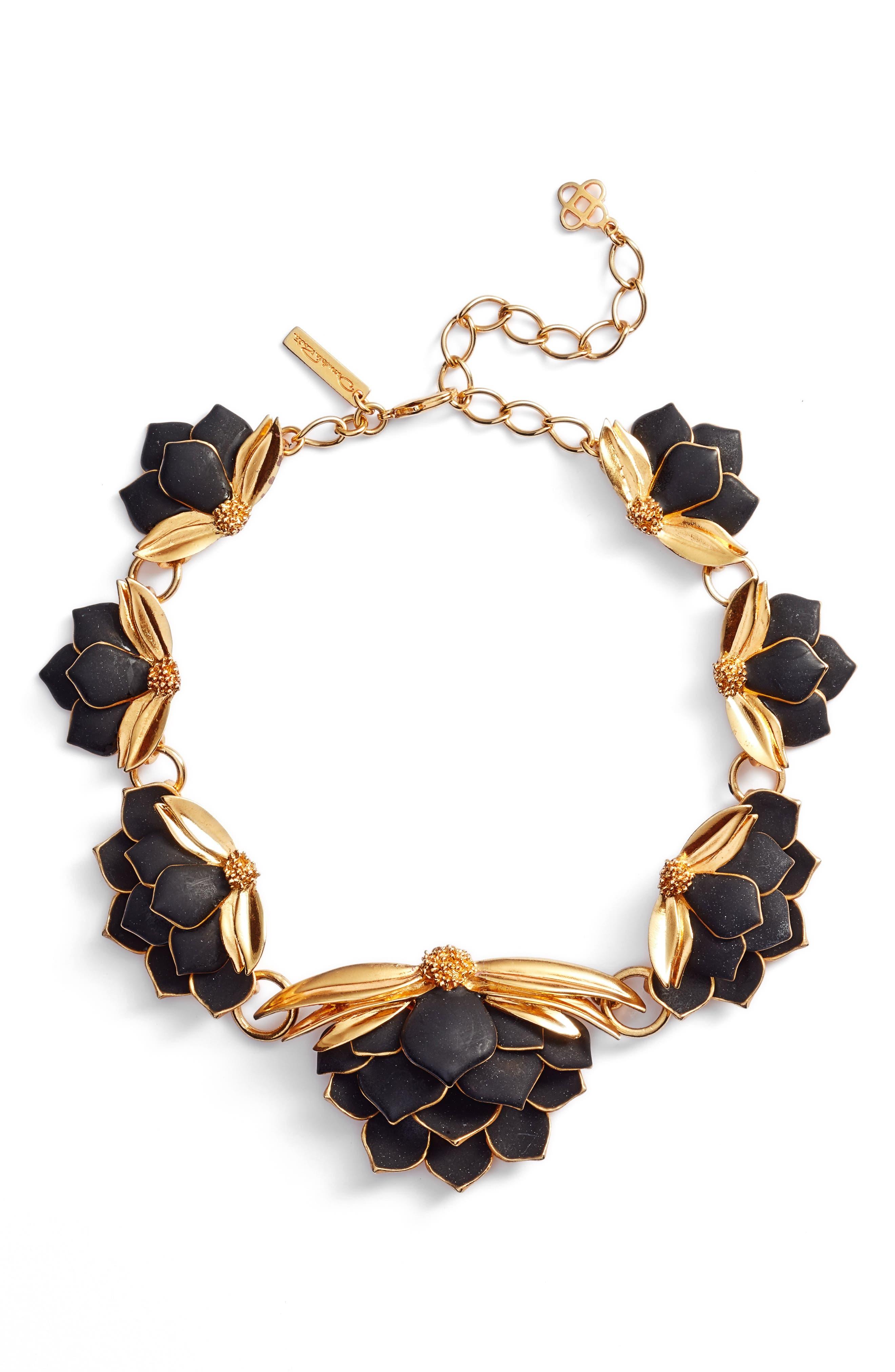 Oscar de la Renta Wild Lotus Necklace