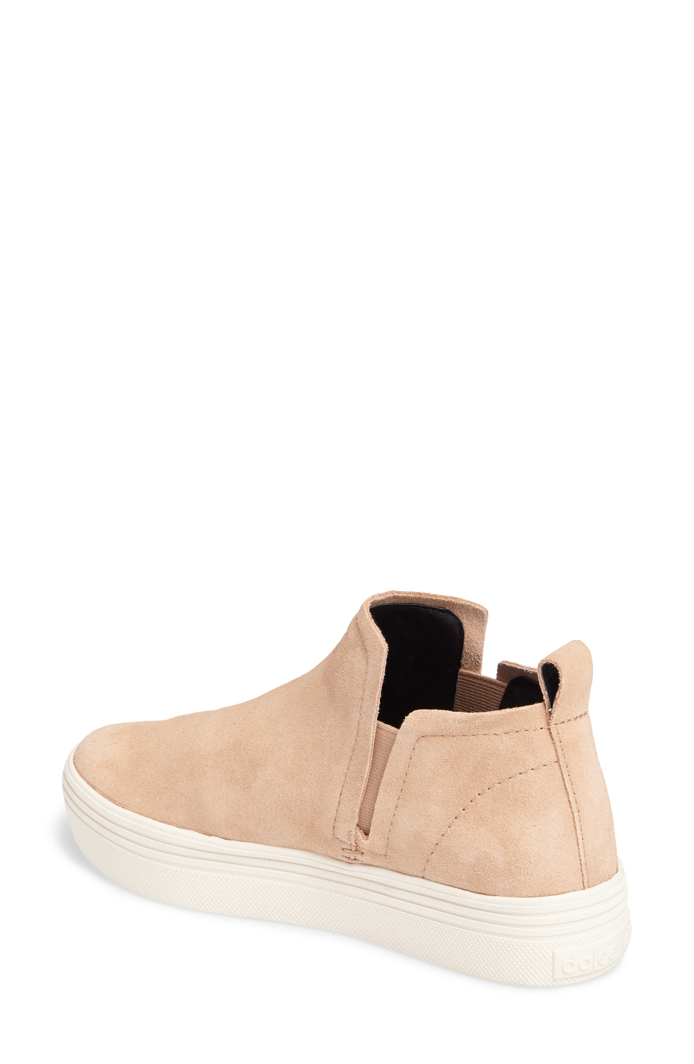 Tate Slip-On Sneaker,                             Alternate thumbnail 2, color,                             Blush Suede