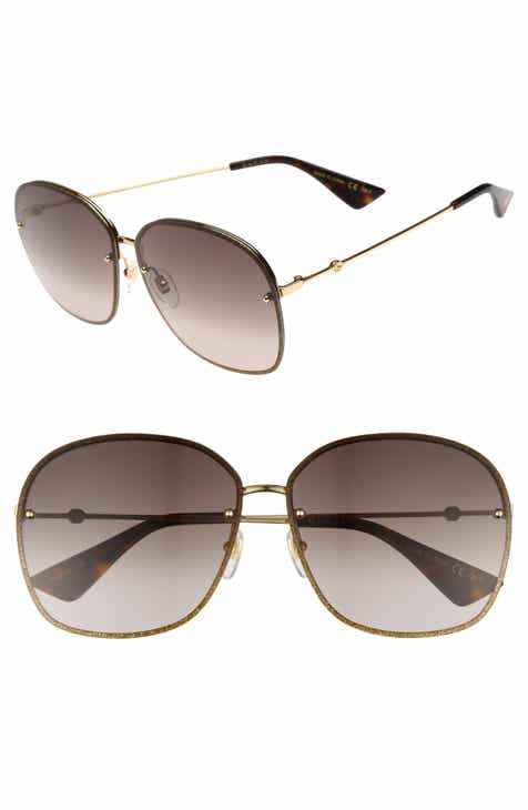 a9c93f494ae Gucci 63mm Oversize Square Sunglasses