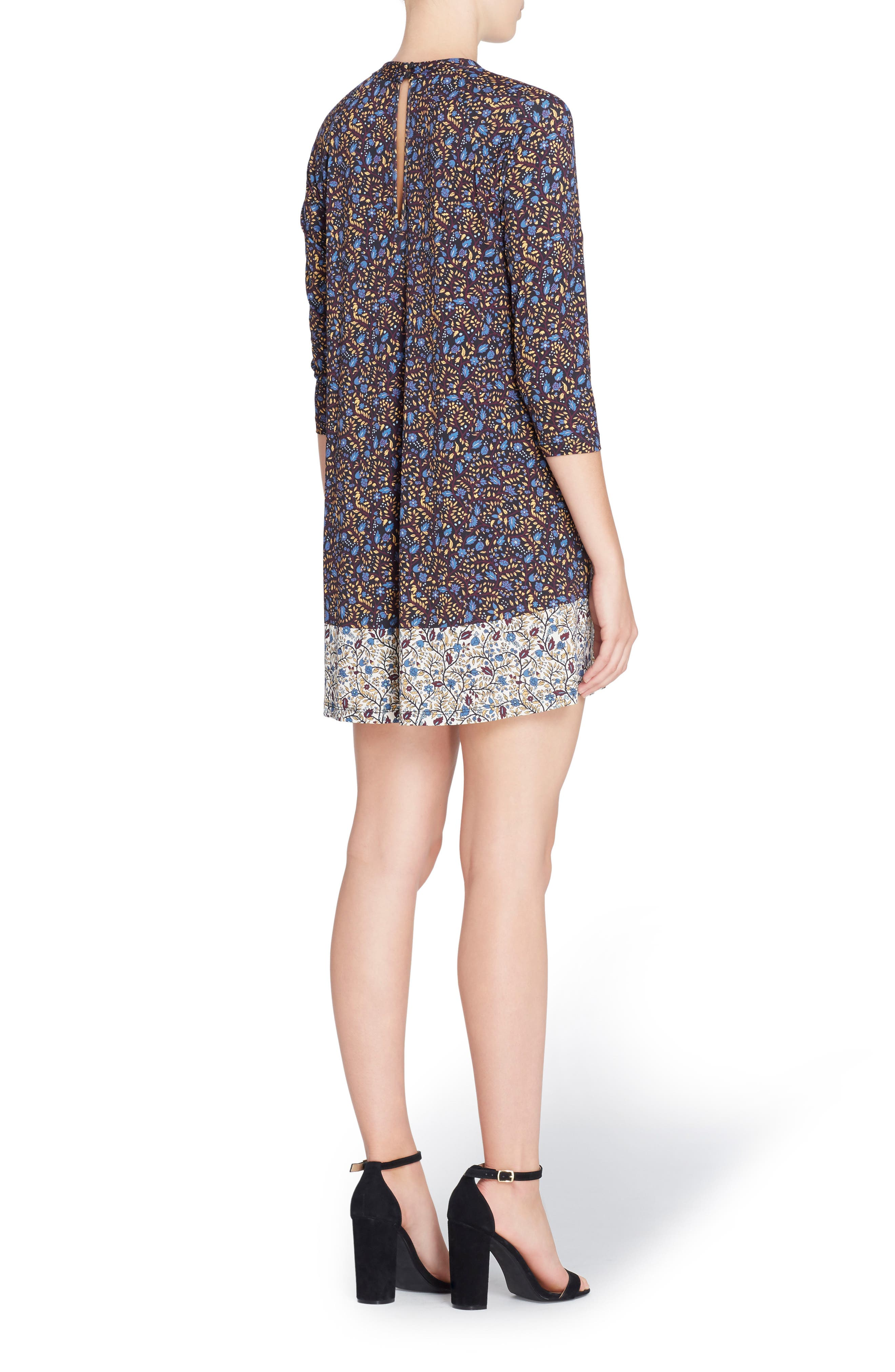 Alternate Image 2  - Catherine Catherine Malandrino 'Hayden' Mixed Print Minidress