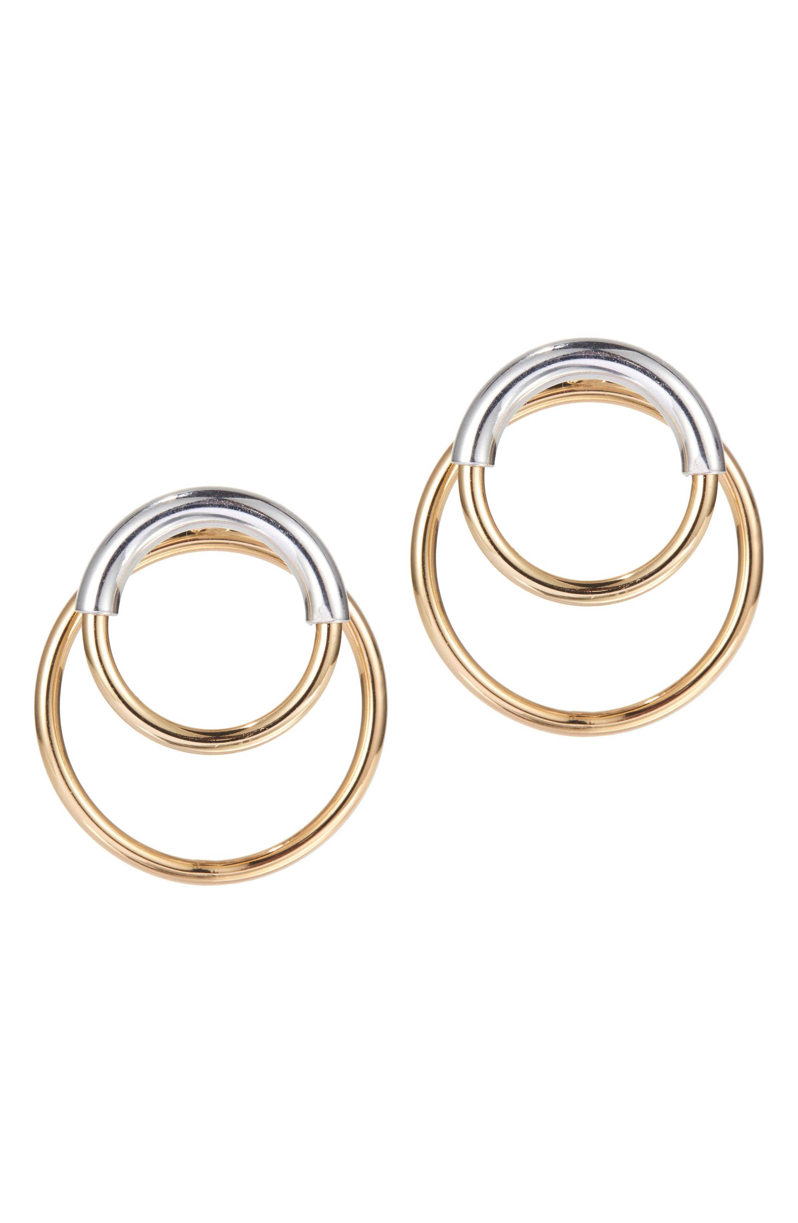Jenny Bird Ossie Drop Back Hoop Earrings
