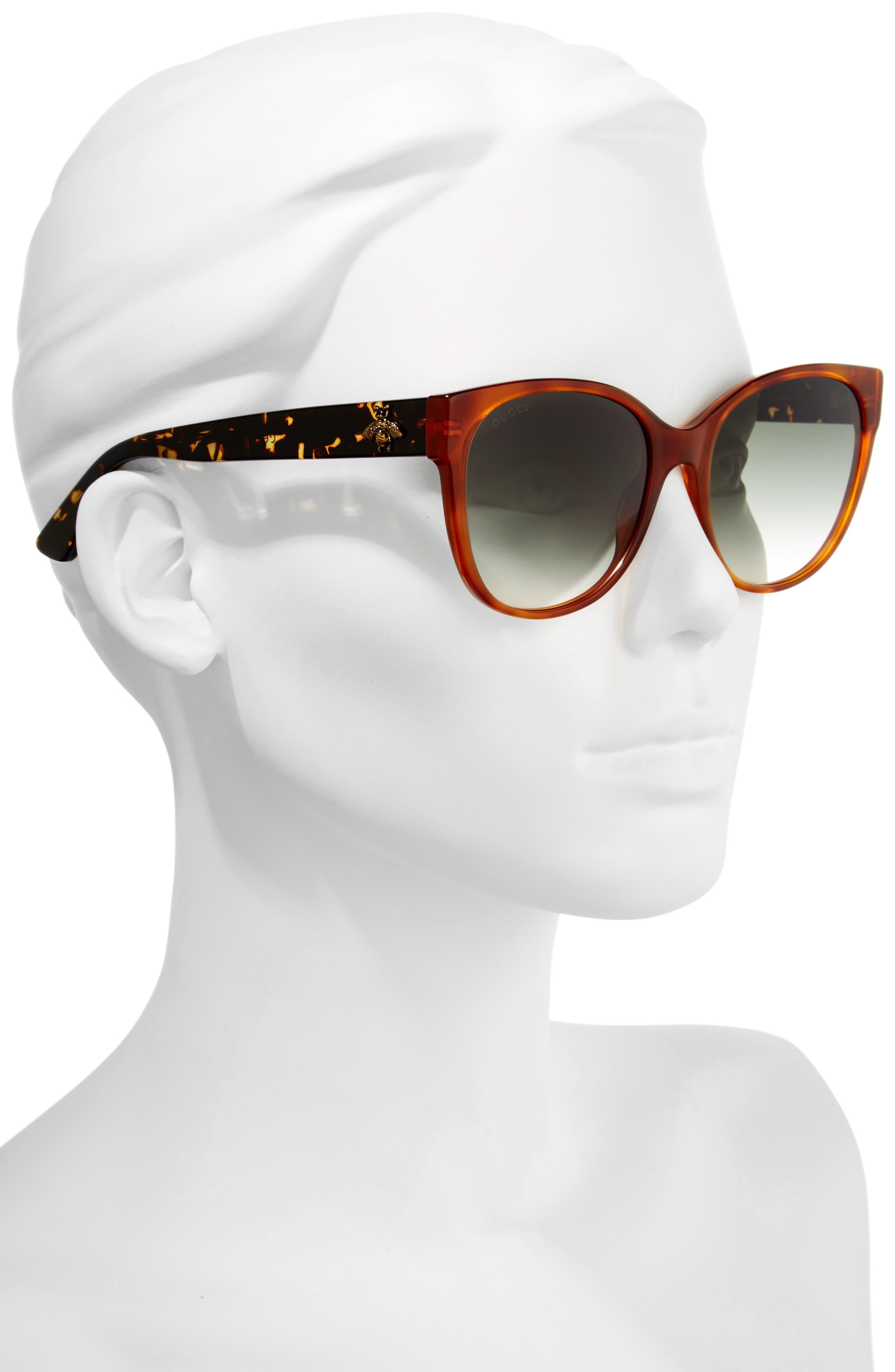 Alternate Image 2  - Gucci 56mm Cat Eye Sunglasses