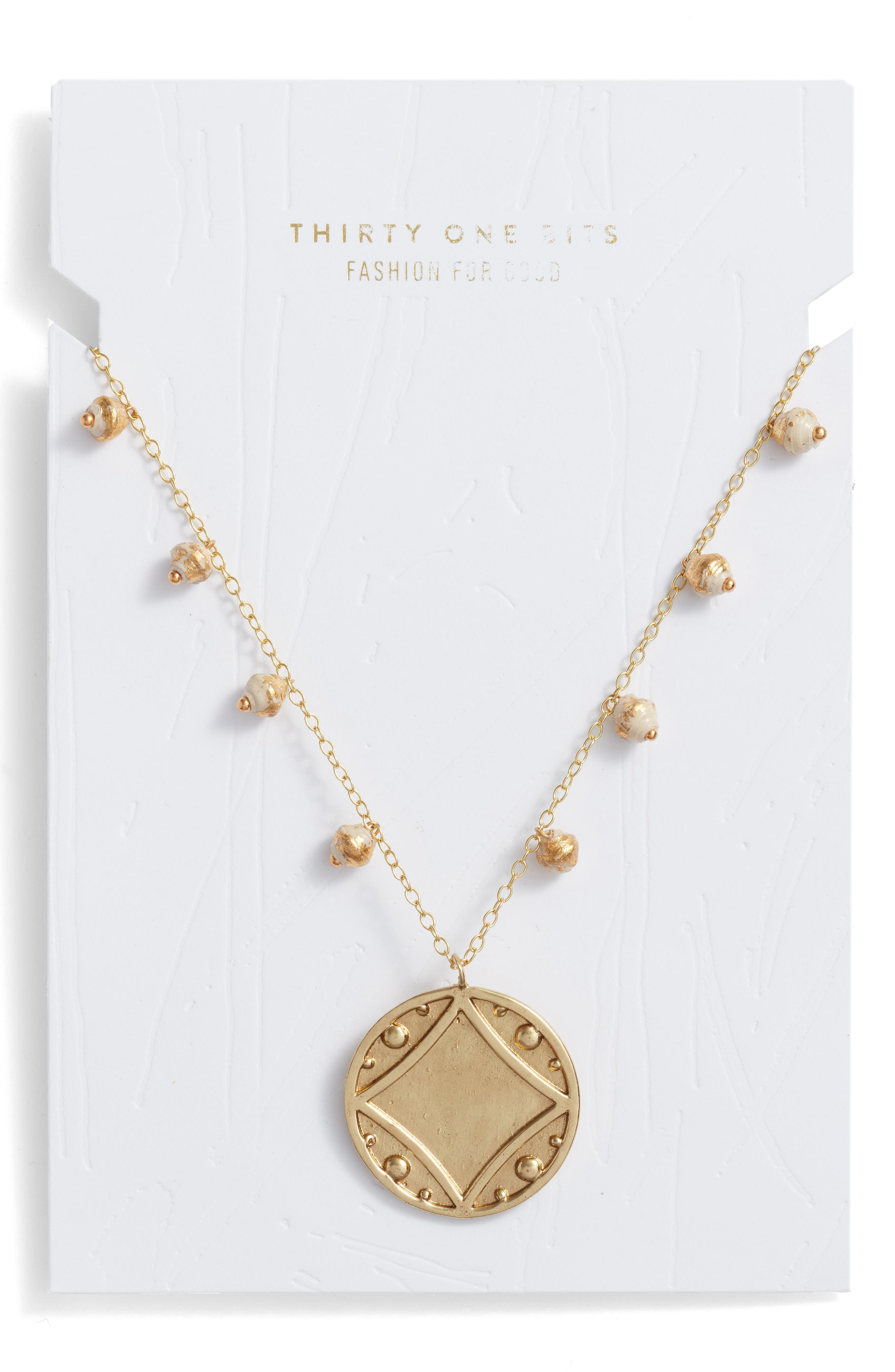 Early Light Pendant Necklace,                             Alternate thumbnail 2, color,                             Cream/ Gold