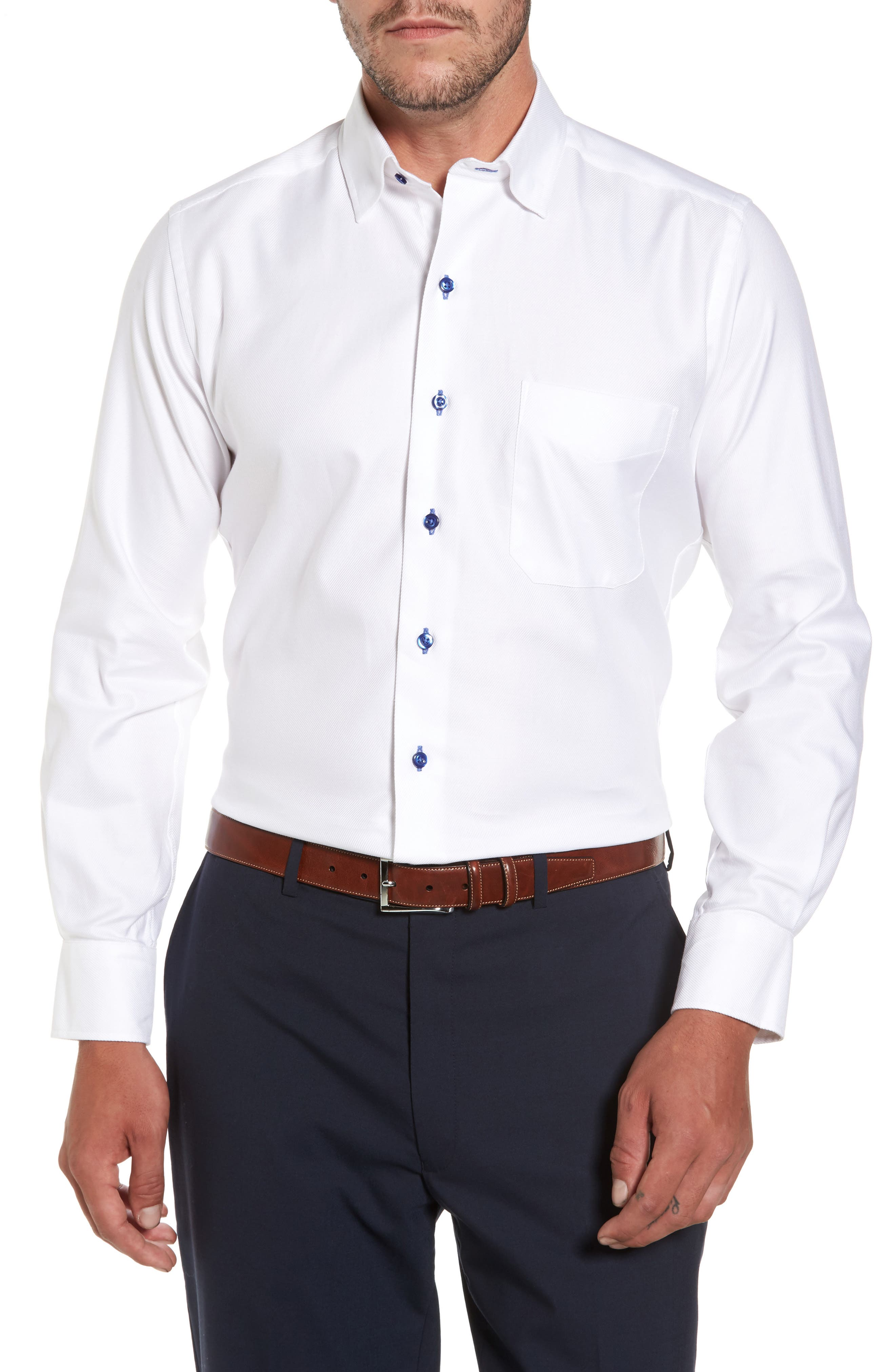 Print Regular Fit Sport Shirt,                         Main,                         color, White