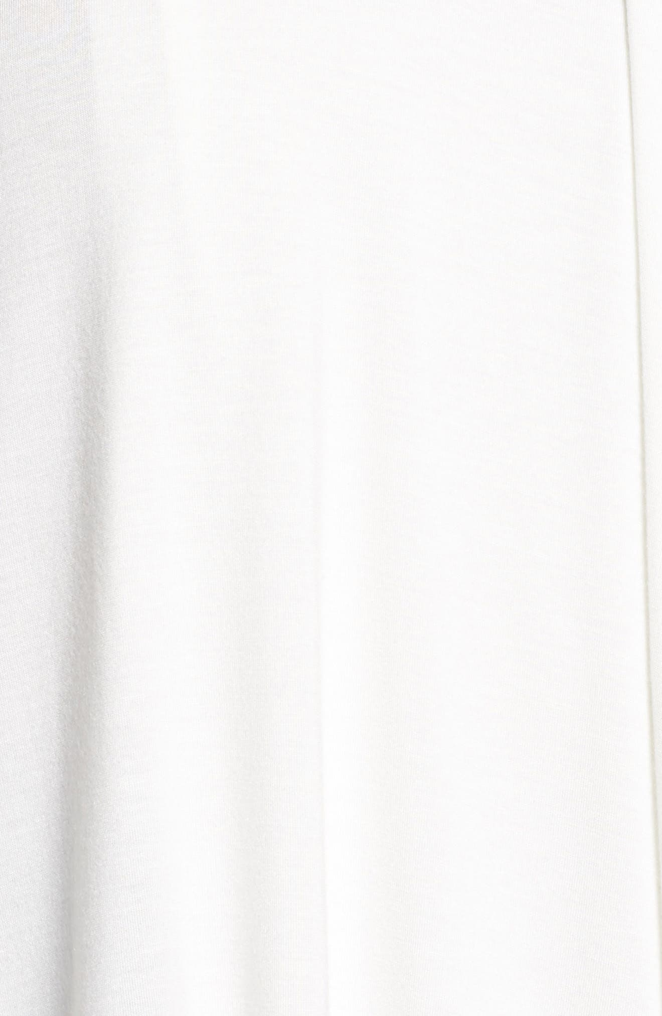 Pleat Front Tee,                             Alternate thumbnail 5, color,                             Ivory Cloud