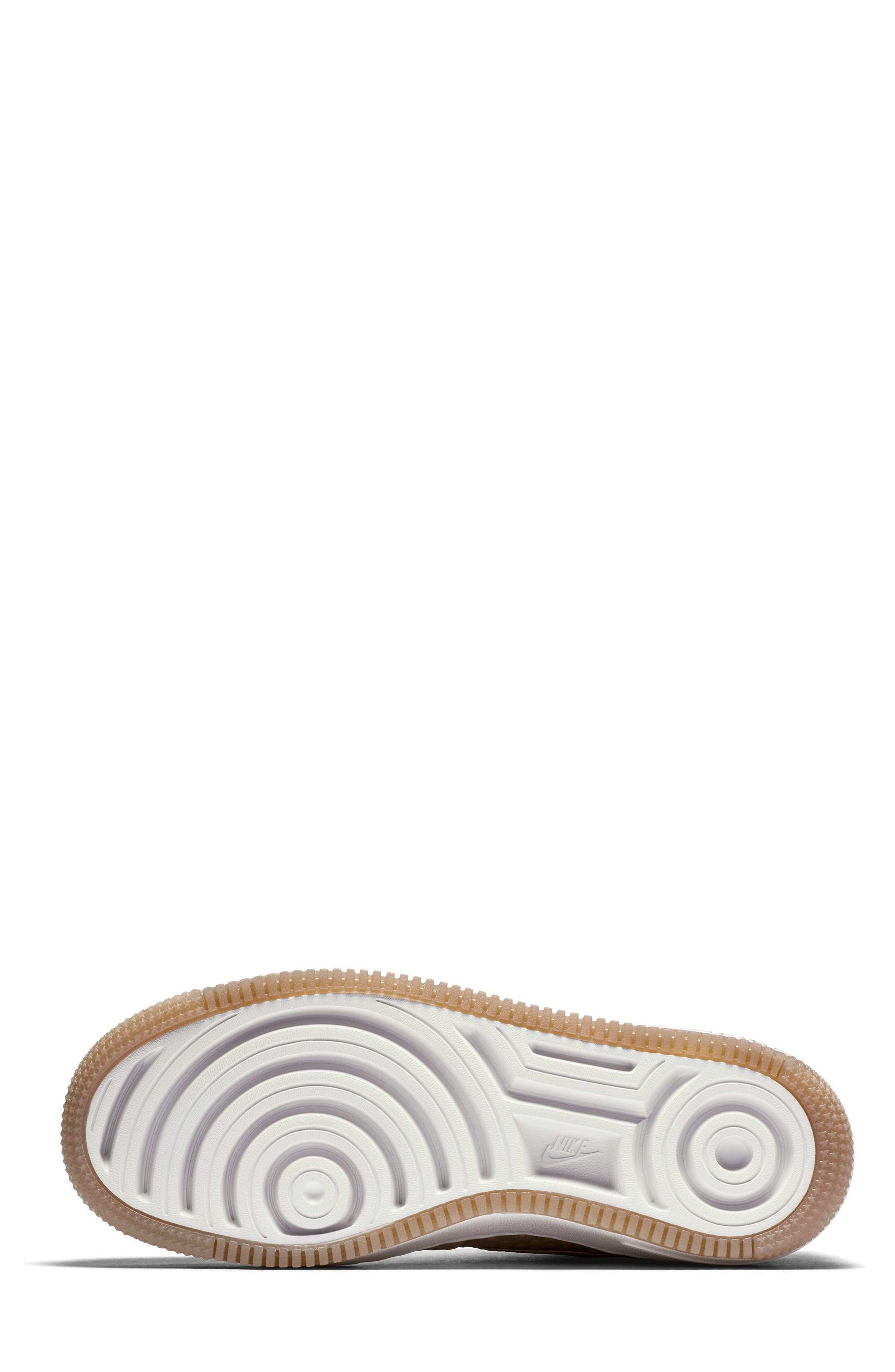 Air Force 1 Upstep Premium Platform Sneaker,                             Alternate thumbnail 7, color,                             Blur/ Blur/ Summit White