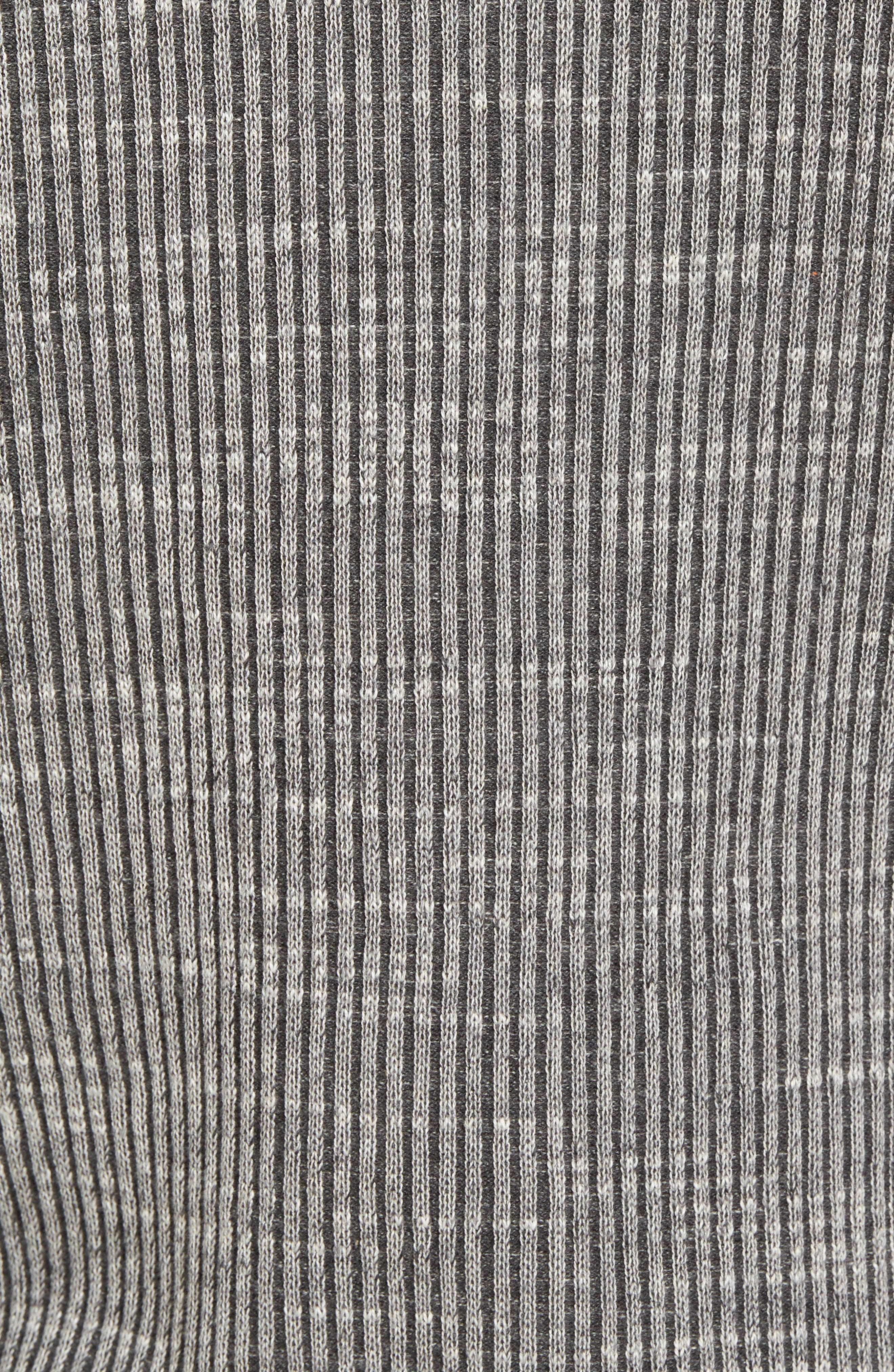 Mock Neck Sweater,                             Alternate thumbnail 5, color,                             Grey Dark Charcoal