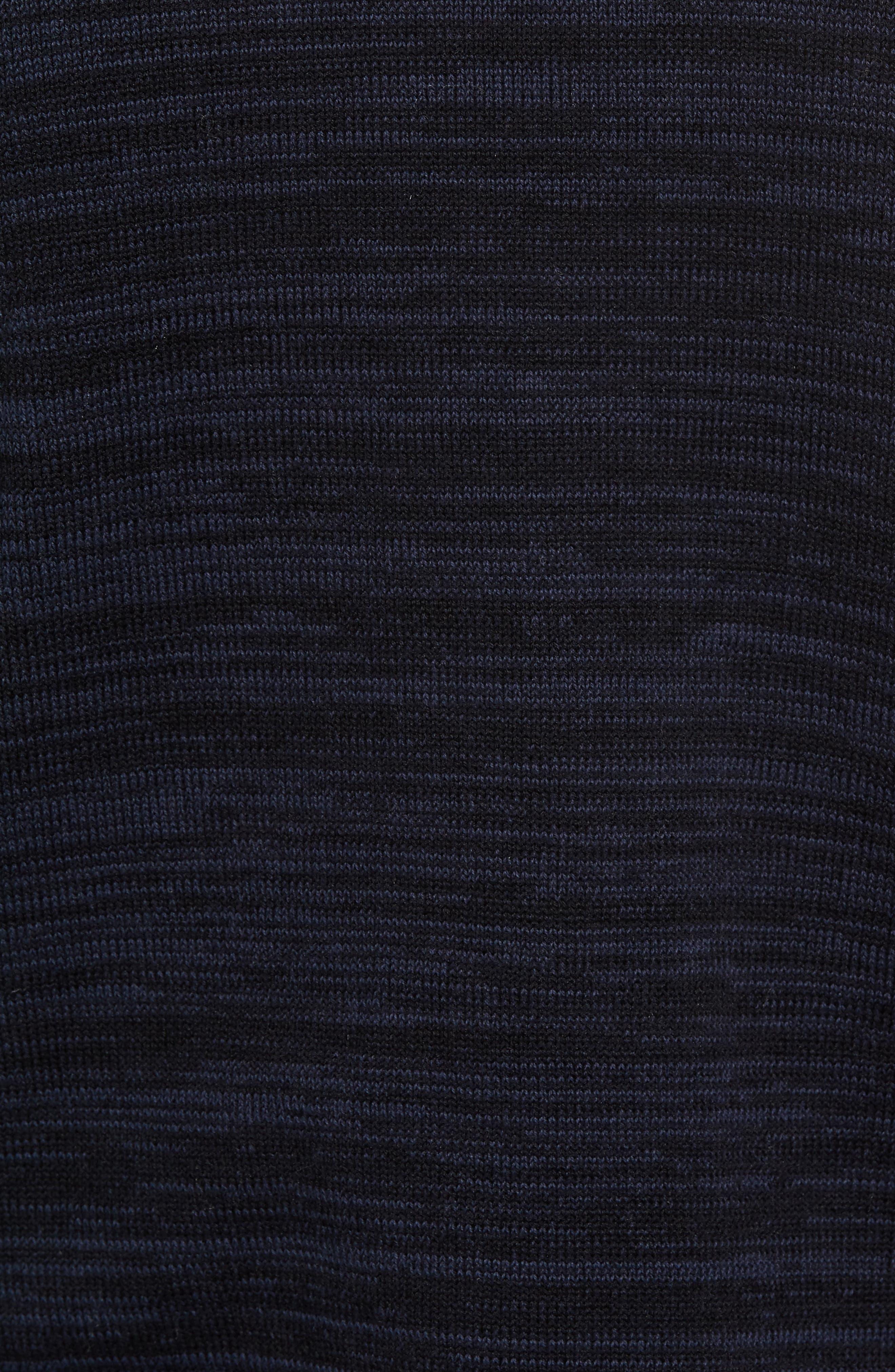 Full Zip Cardigan,                             Alternate thumbnail 5, color,                             Navy Iris Spacedye