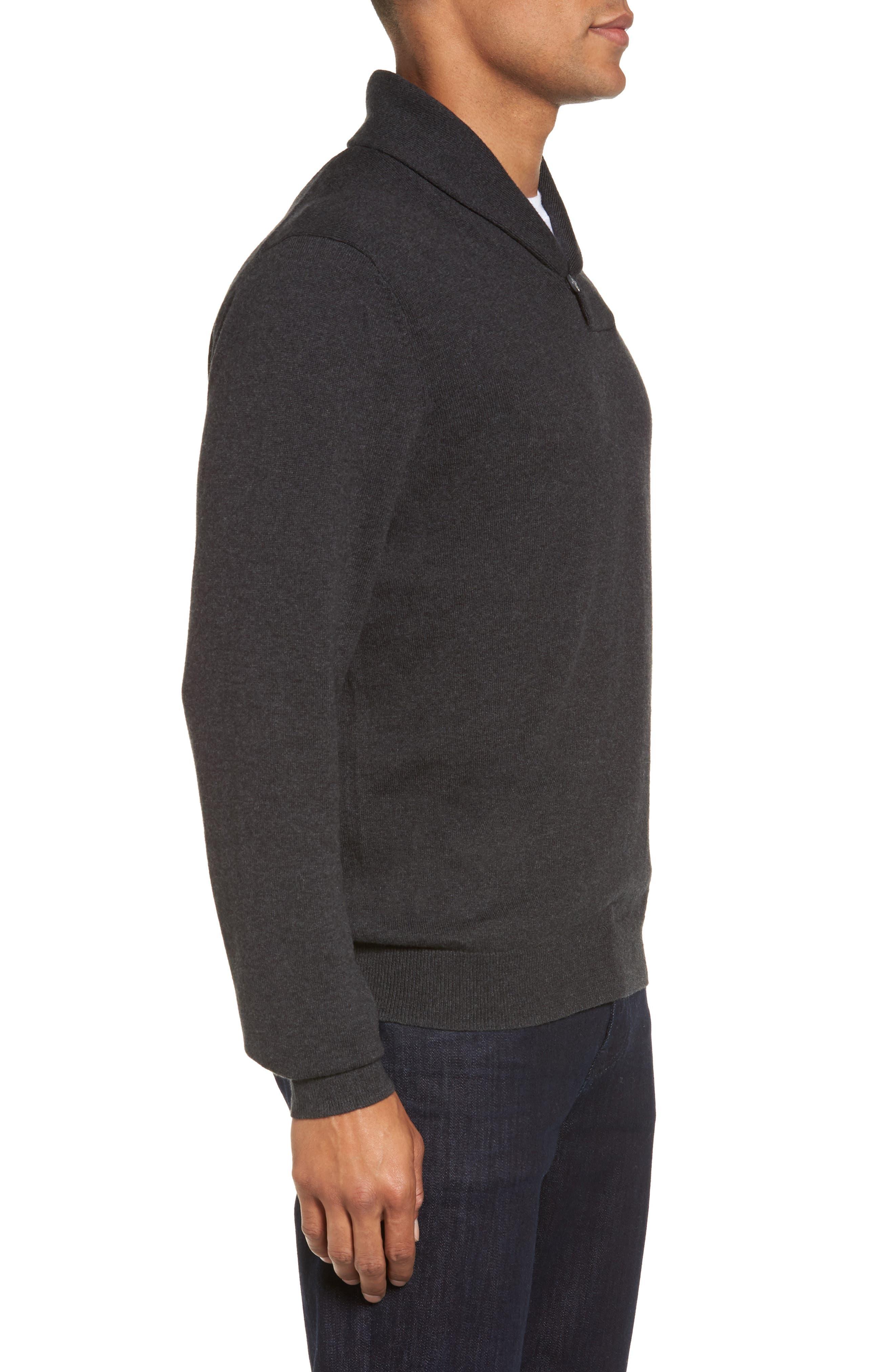 Alternate Image 3  - Nordstrom Men's Shop Shawl Collar Sweater (Big)