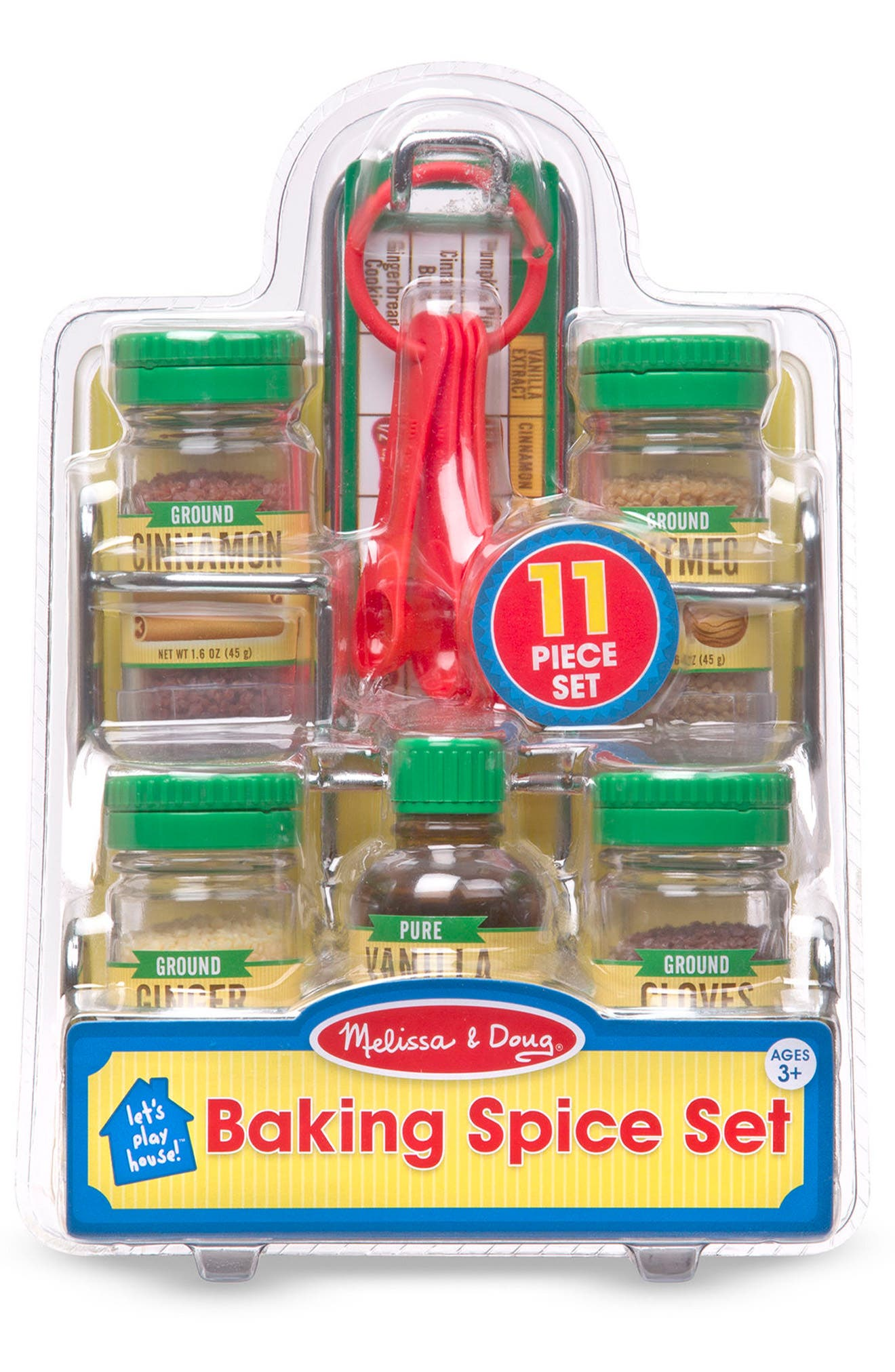 Melissa & Doug 11-Piece Baking Spice Toy Set