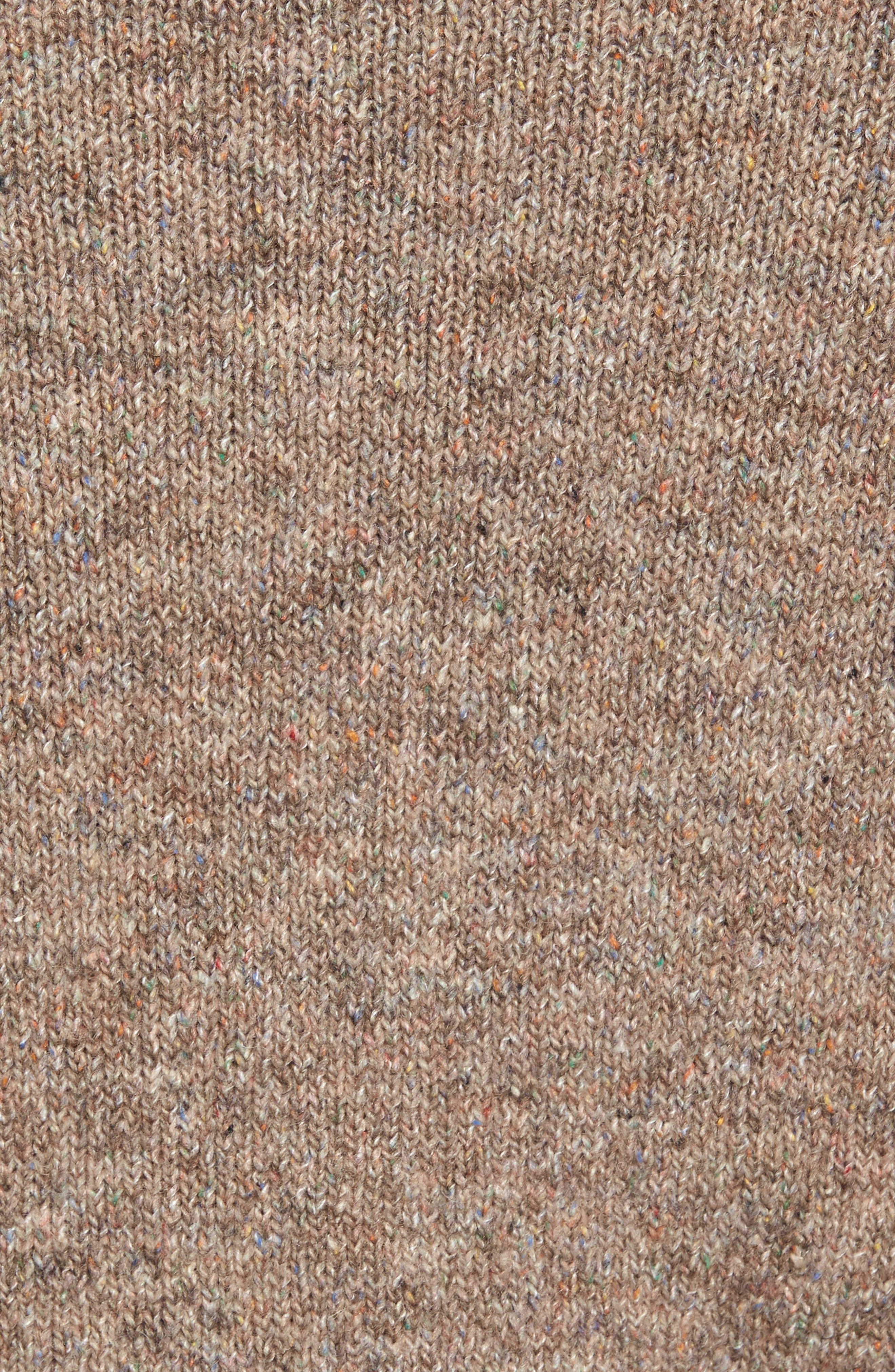 Tweed Crewneck Sweater,                             Alternate thumbnail 5, color,                             Sand