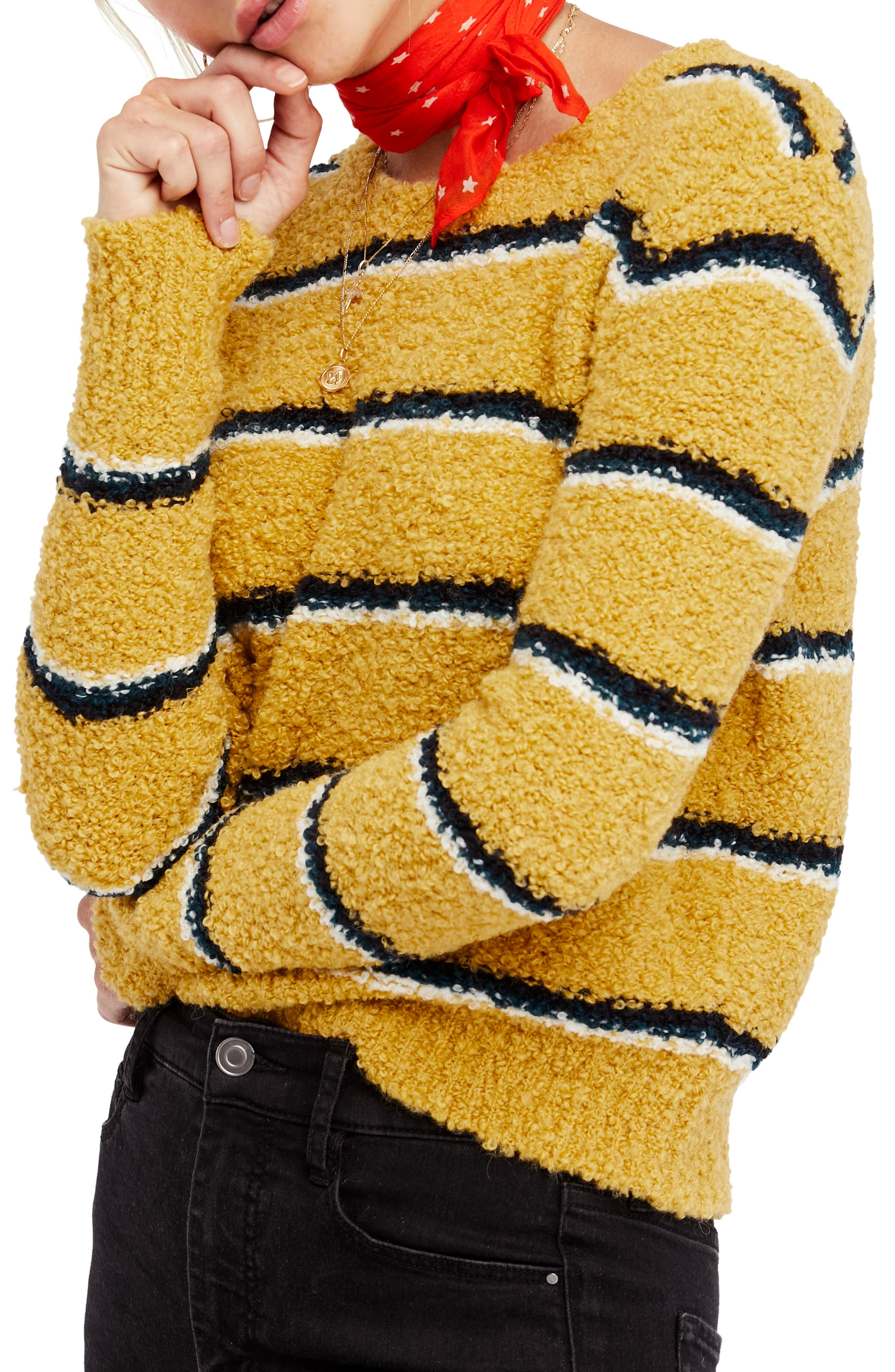 Best Day Ever Sweater,                         Main,                         color, Gold