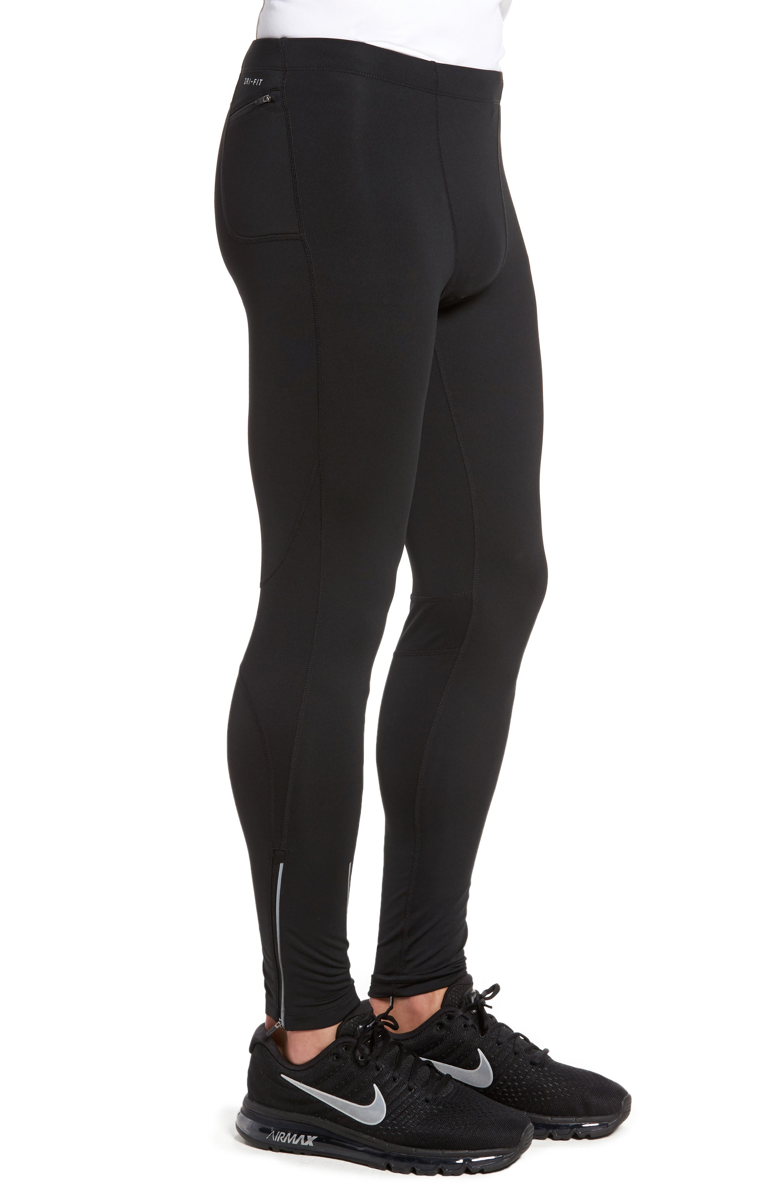 Therma Dry Running Tights,                             Alternate thumbnail 3, color,                             Black