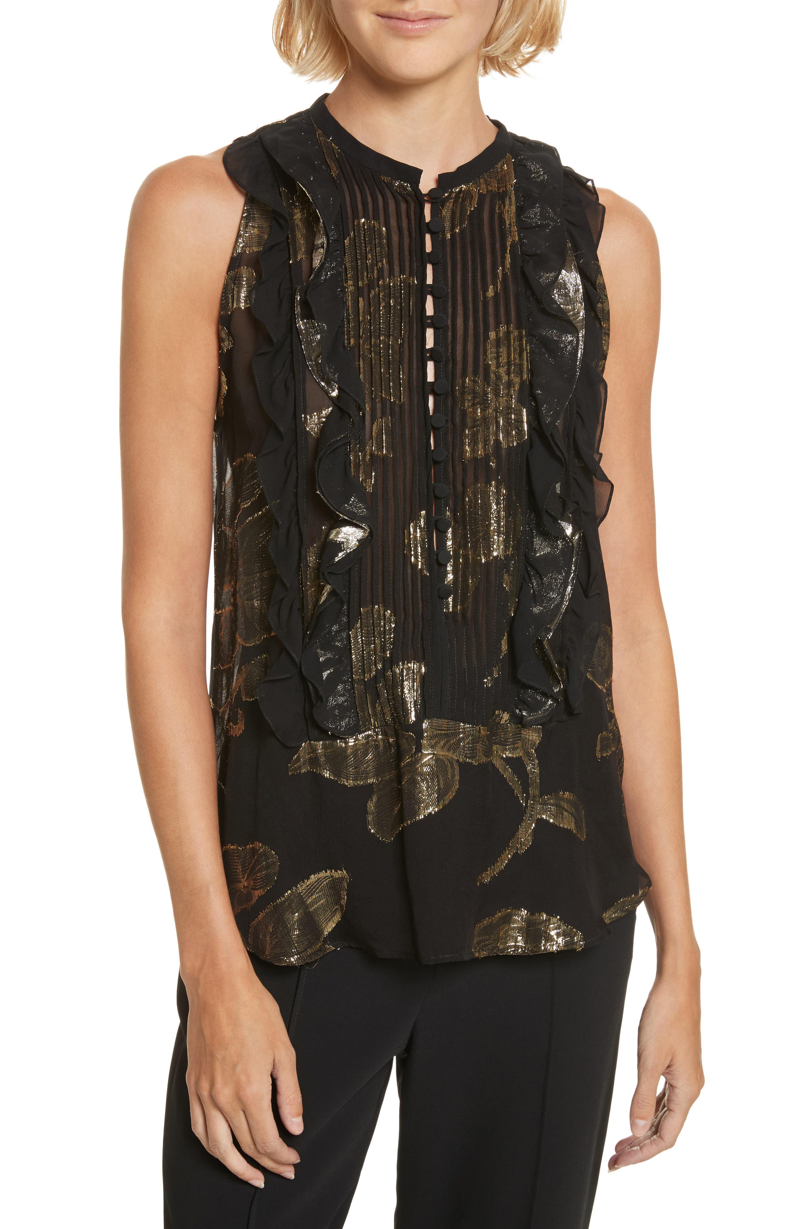 Alternate Image 1 Selected - A.L.C. Tomei Silk Tank Top