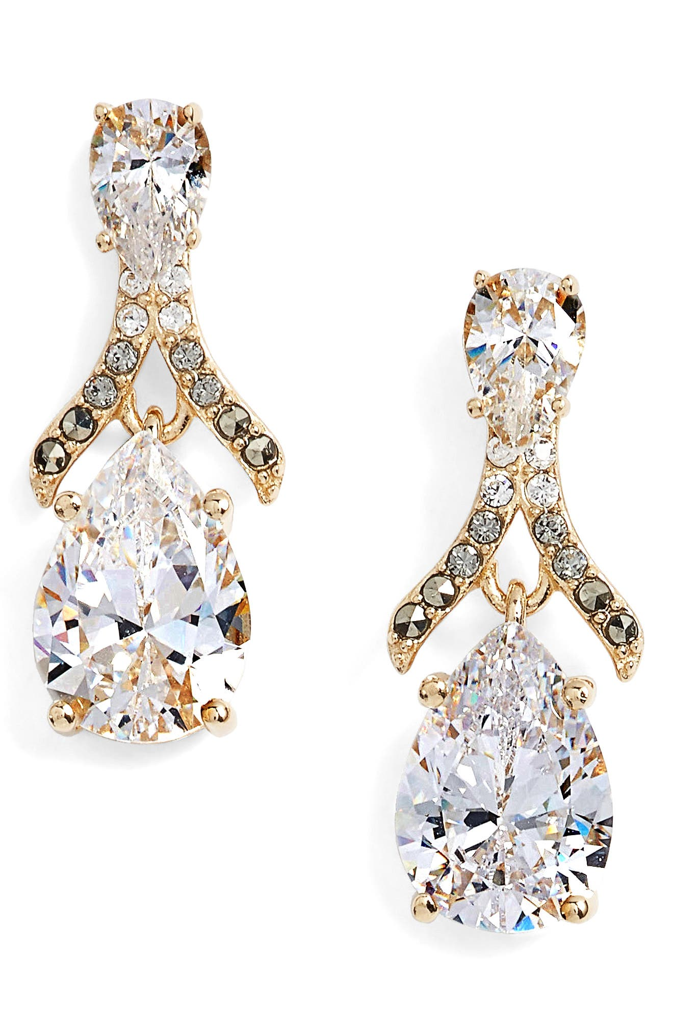 Judith Jack Cubic Zirconia Drop Earrings