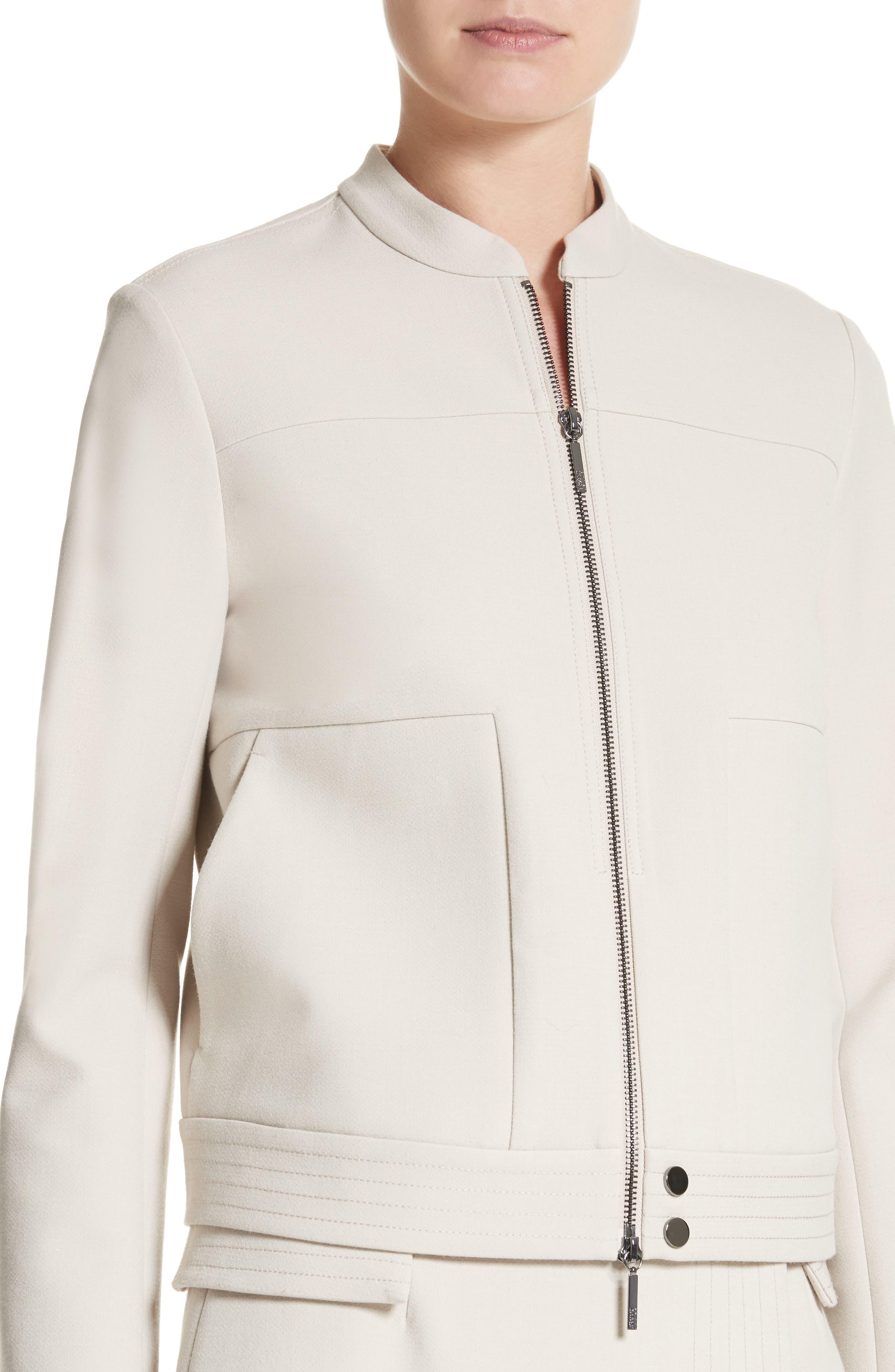 Alternate Image 4  - Armani Collezioni Crepe Jacket