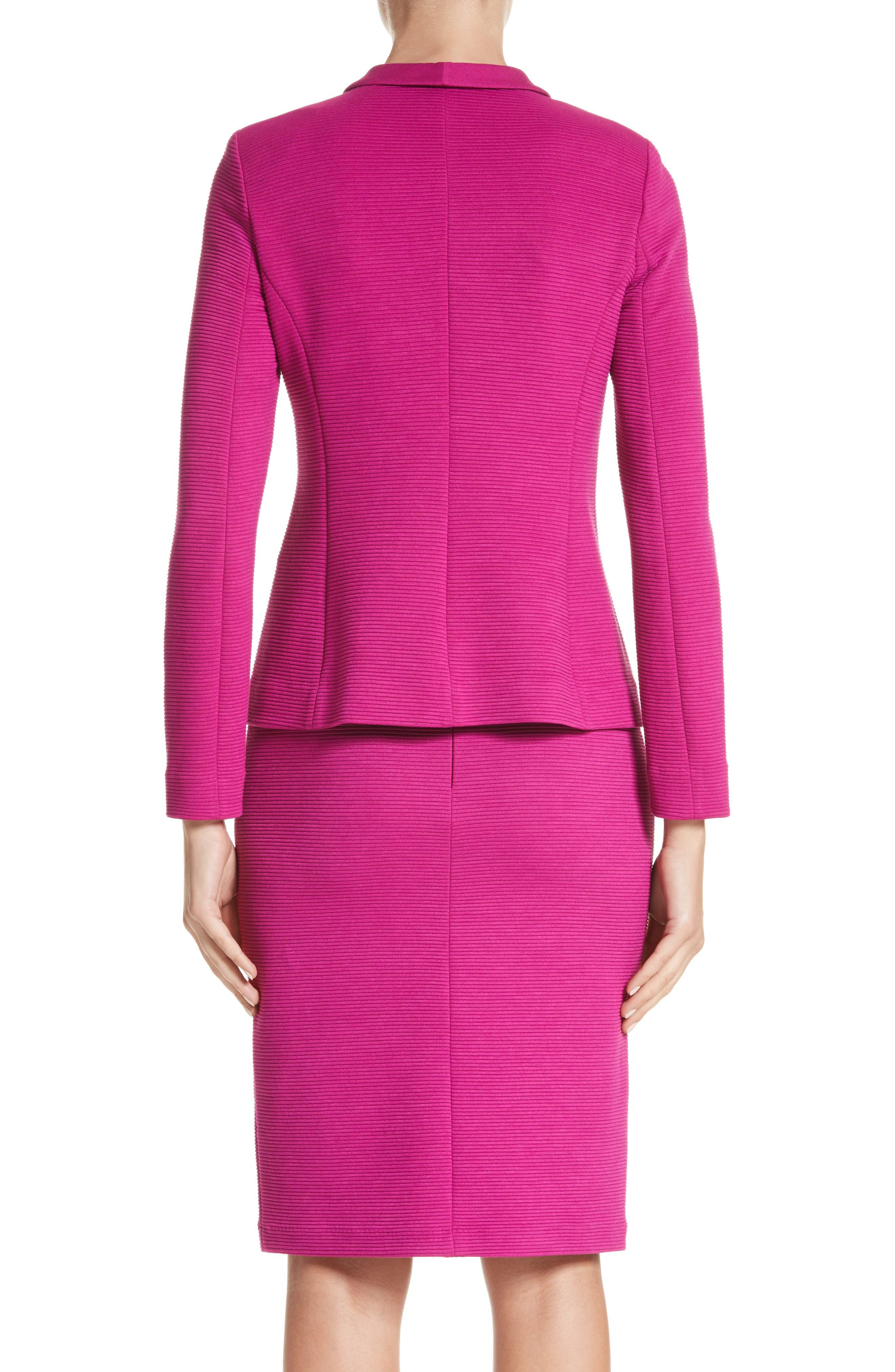 Alternate Image 2  - Armani Collezioni Ottoman Jersey Jacket