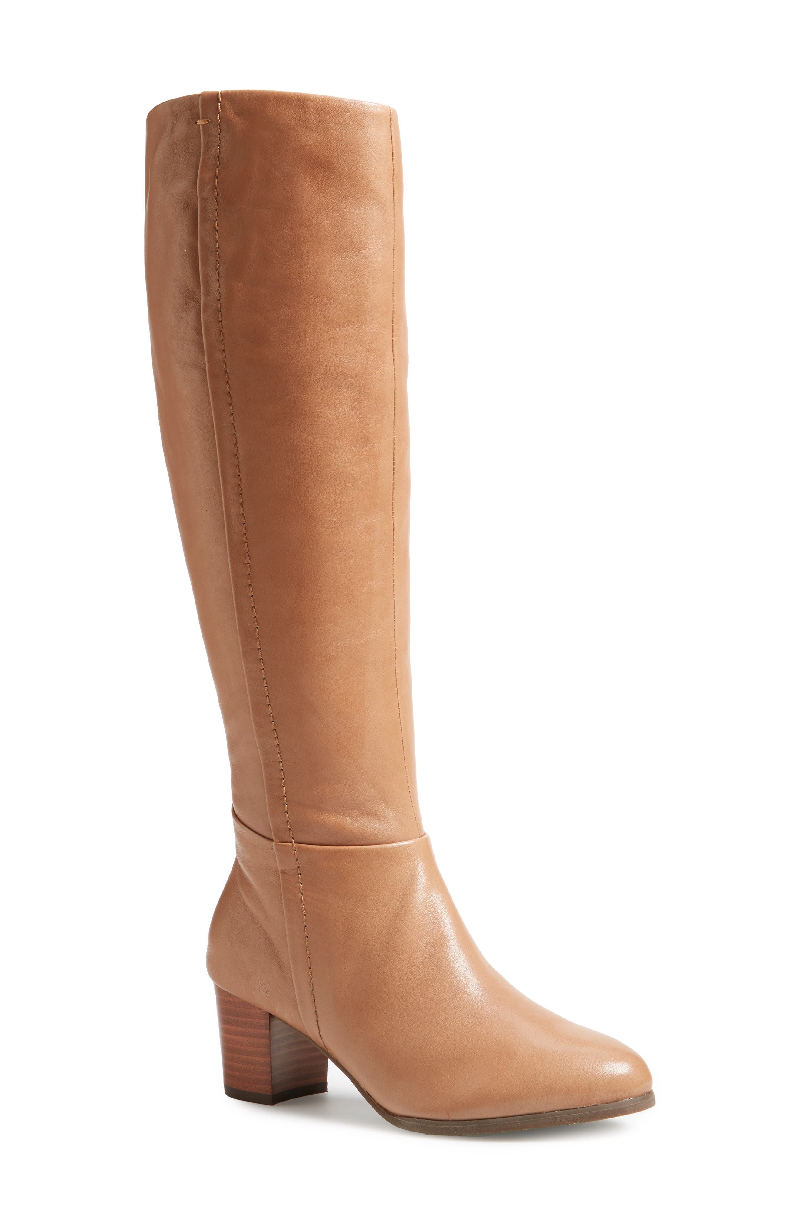 Tahlia Boot,                             Main thumbnail 1, color,                             Brown Leather
