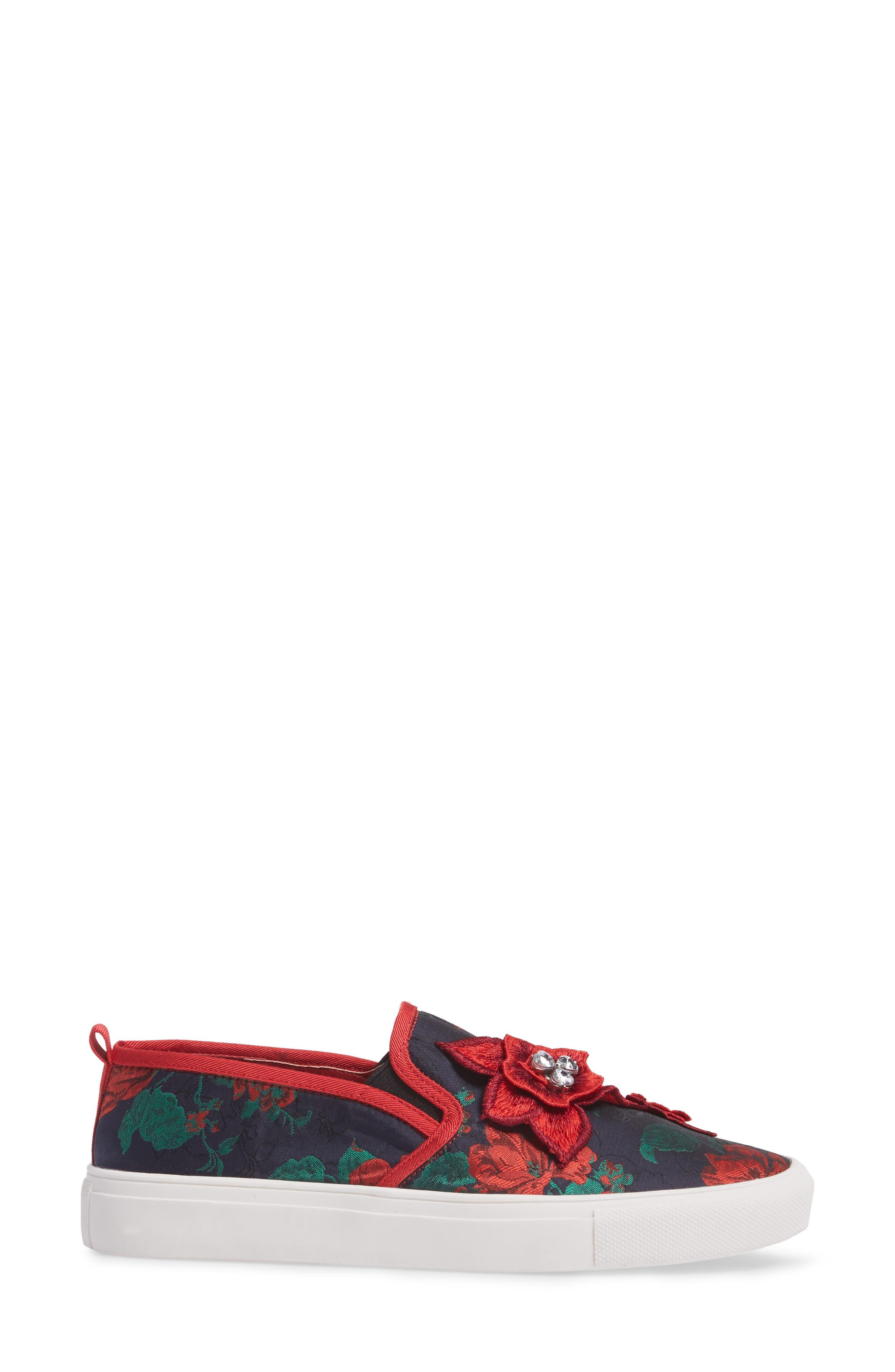 Alternate Image 3  - Topshop Tessa Embroidered Slip-On Sneaker (Women)
