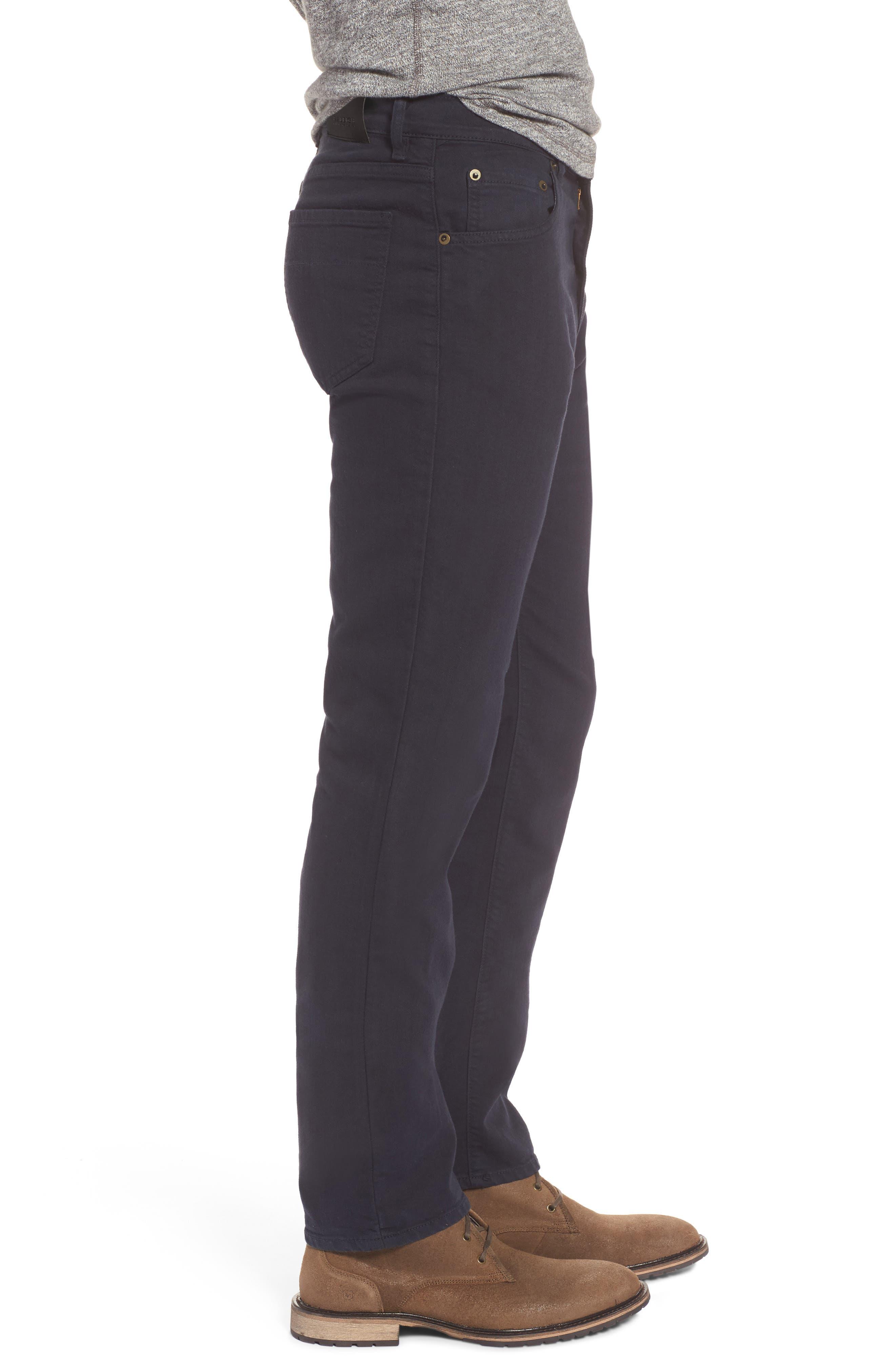 Alternate Image 3  - Raleigh Denim Alexander Straight Leg Jeans (Stretch Dark Fathom)