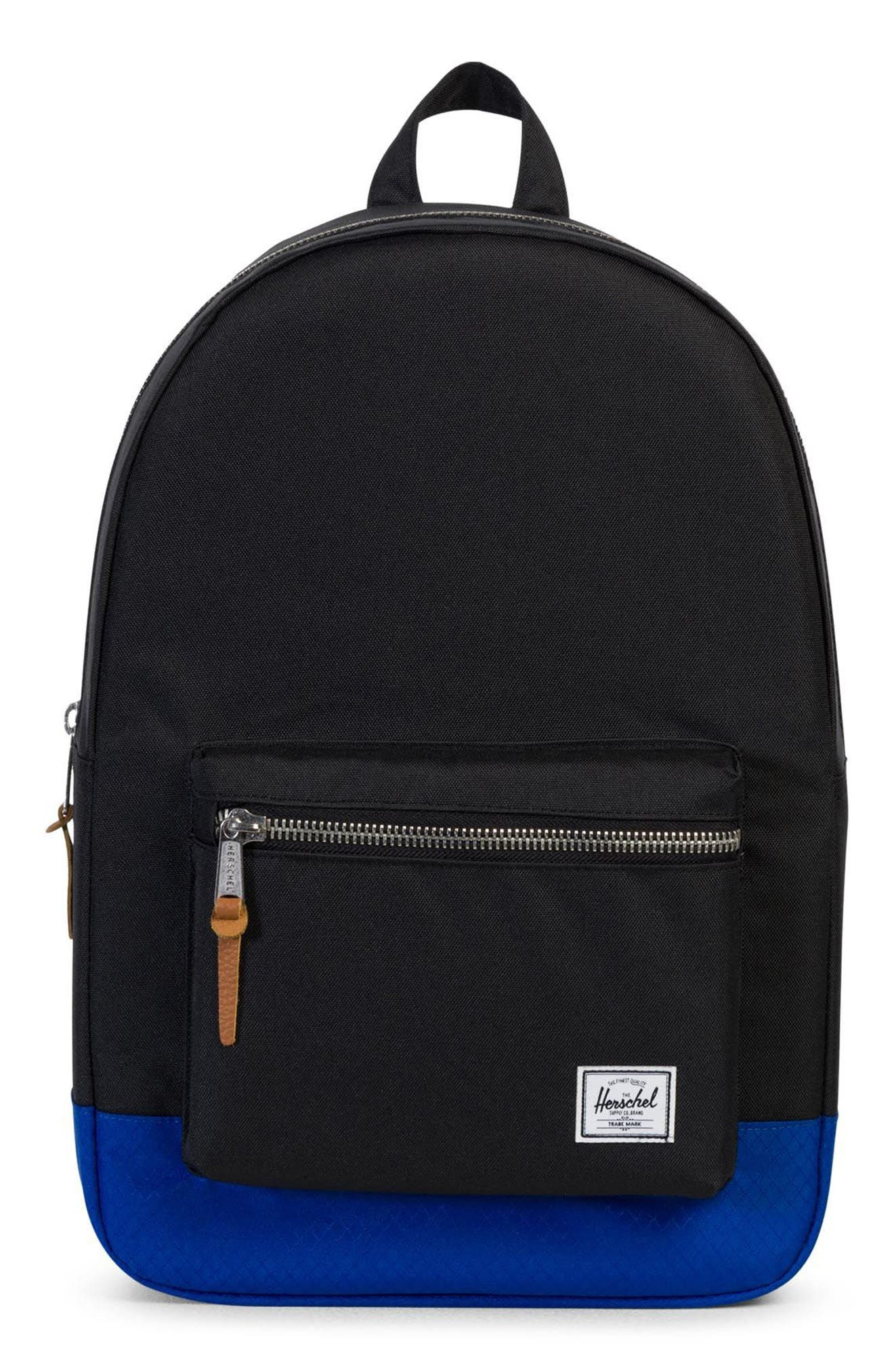 Settlement Backpack,                             Main thumbnail 1, color,                             Black/ Surf The Web