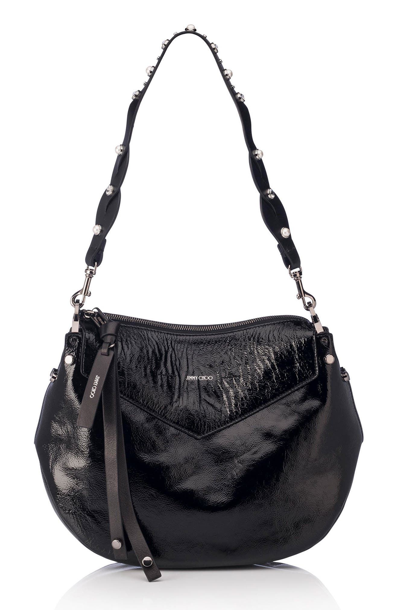 Jimmy Choo Artie Textured Leather Hobo