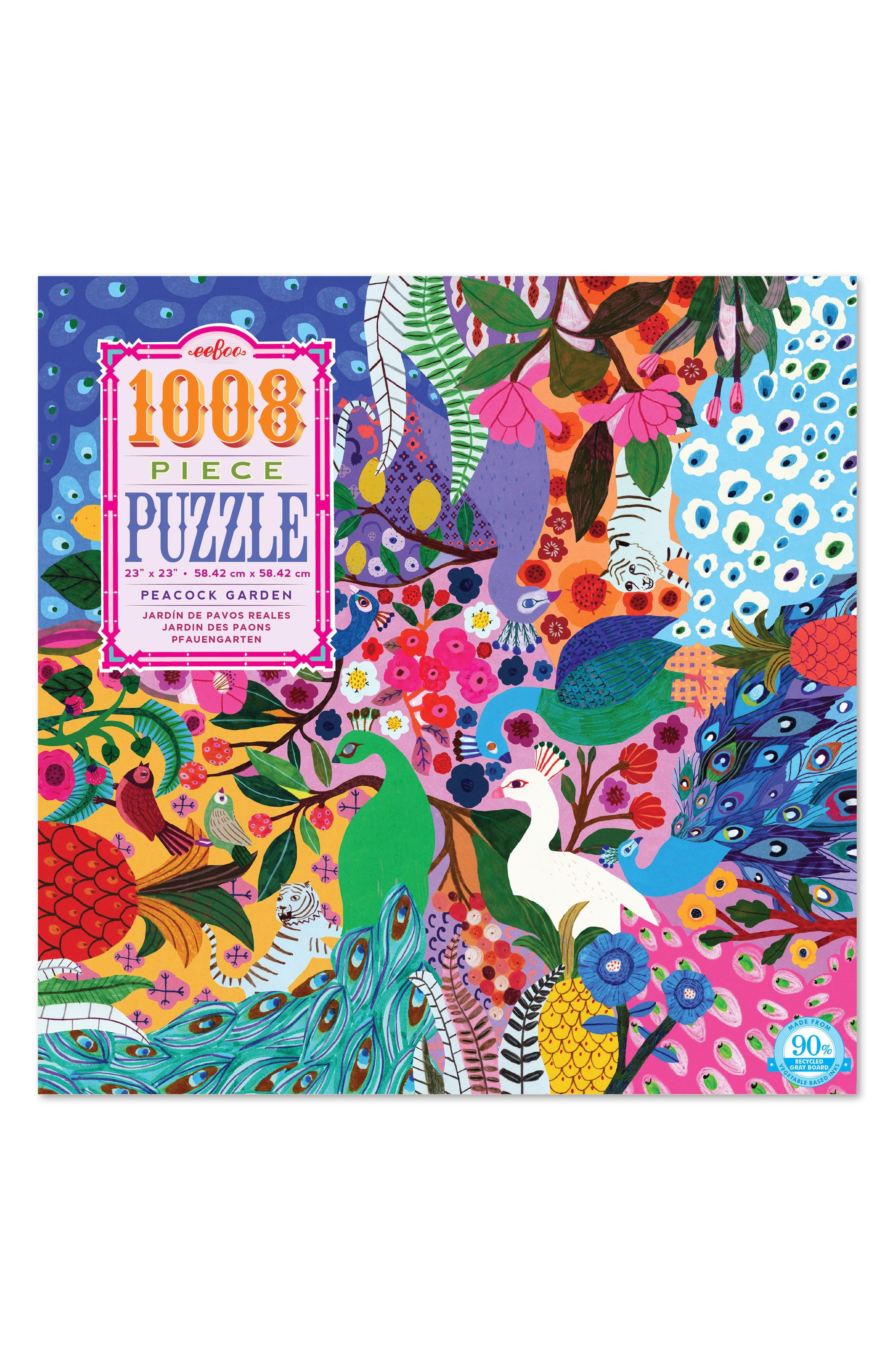 eeBoo Peacock Garden 1008-Piece Puzzle
