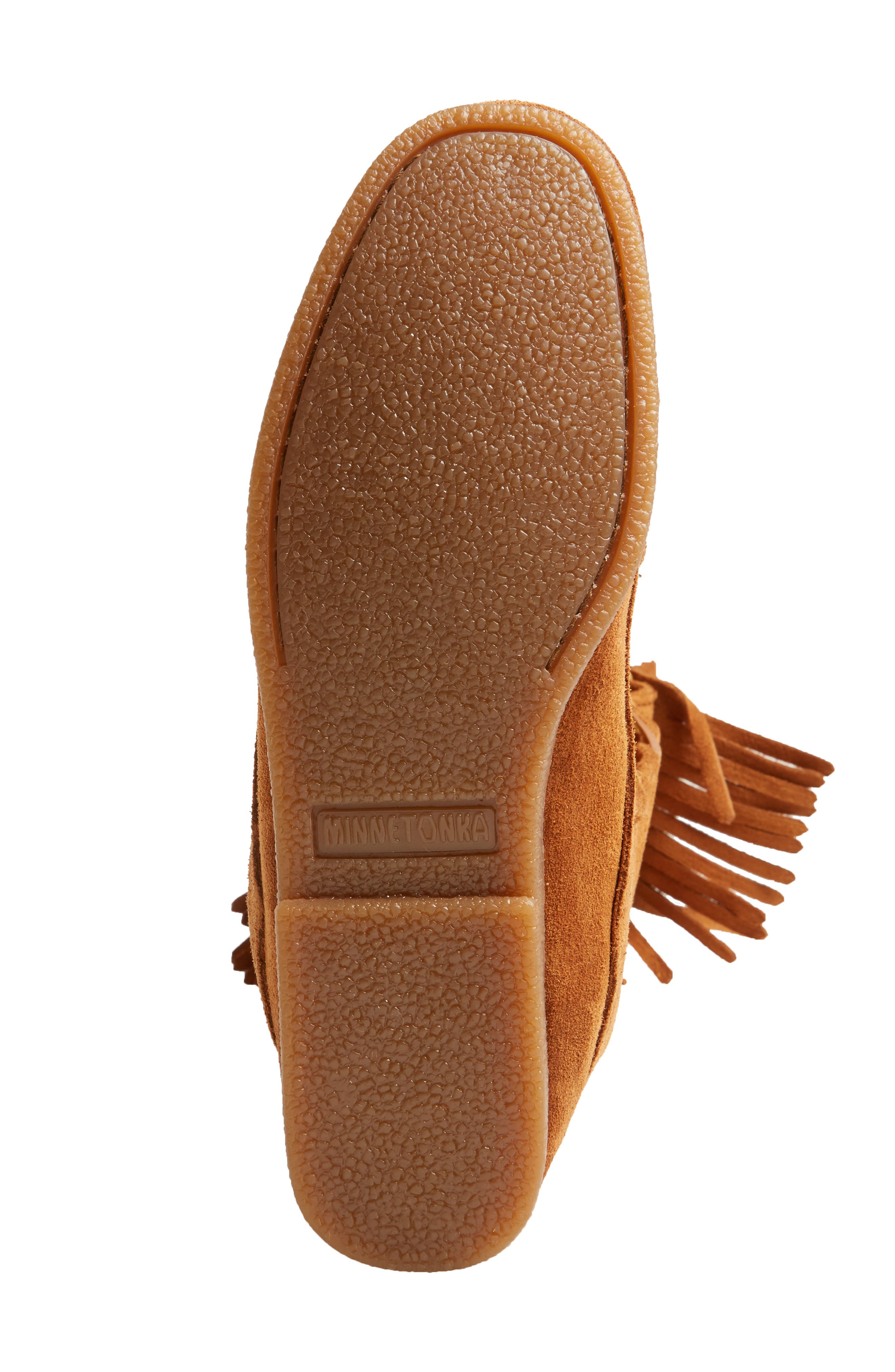 Knee High Moccasin Boot,                             Alternate thumbnail 6, color,                             Brown Suede