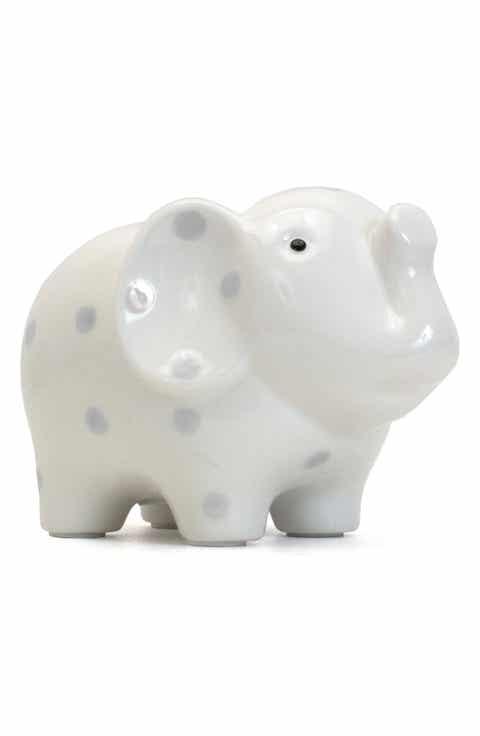 Grey personalized baby gifts nordstrom child to cherish polka dot elephant bank negle Gallery