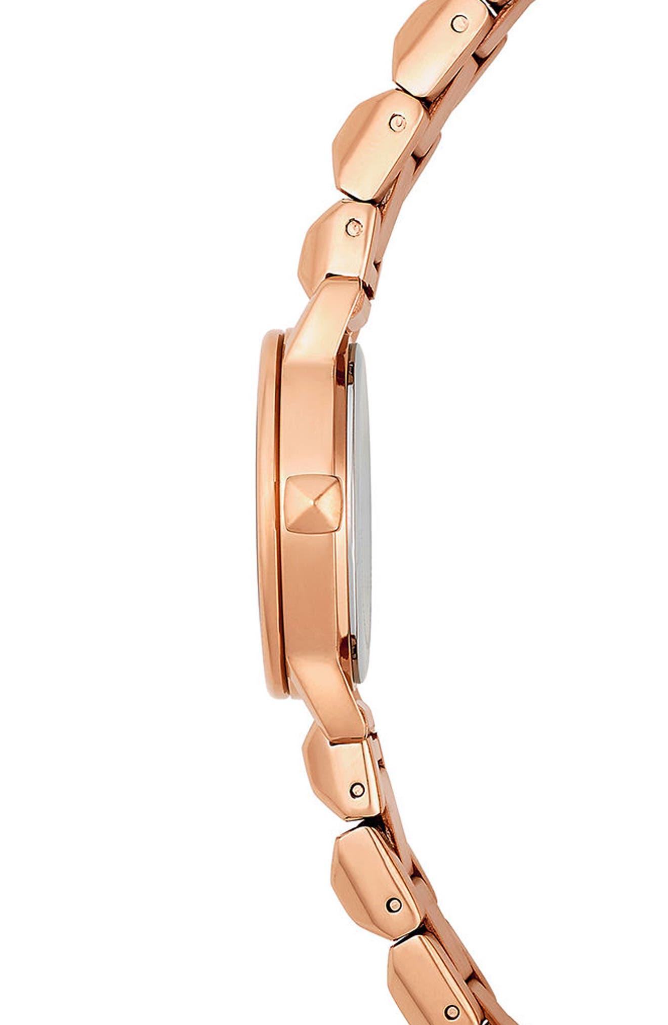 BFFL Bracelet Watch, 25mm,                             Alternate thumbnail 3, color,                             Rose Gold/ Black/ Rose Gold