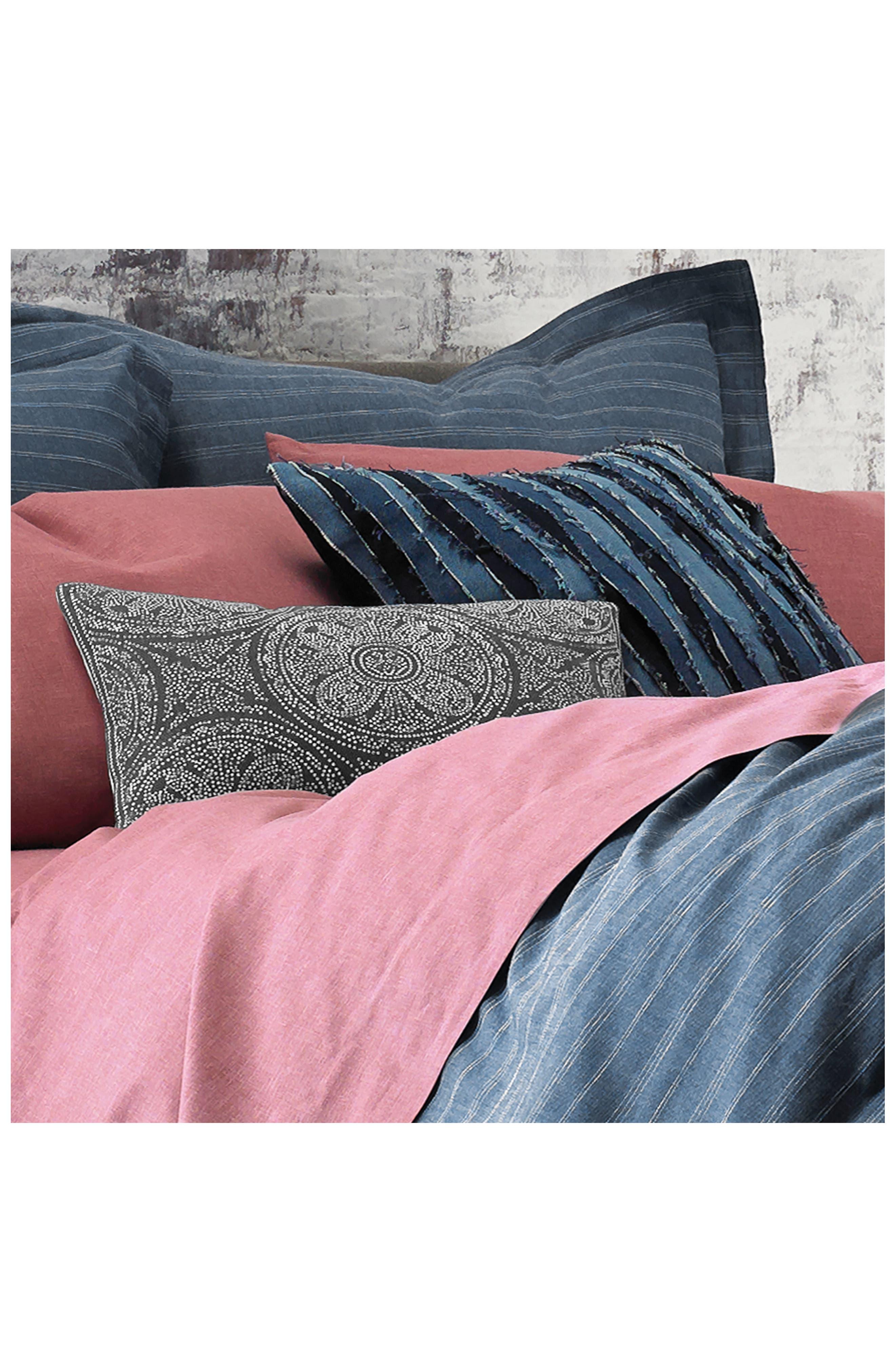 Destroyed Denim Accent Pillow,                             Alternate thumbnail 2, color,                             Denim Blue