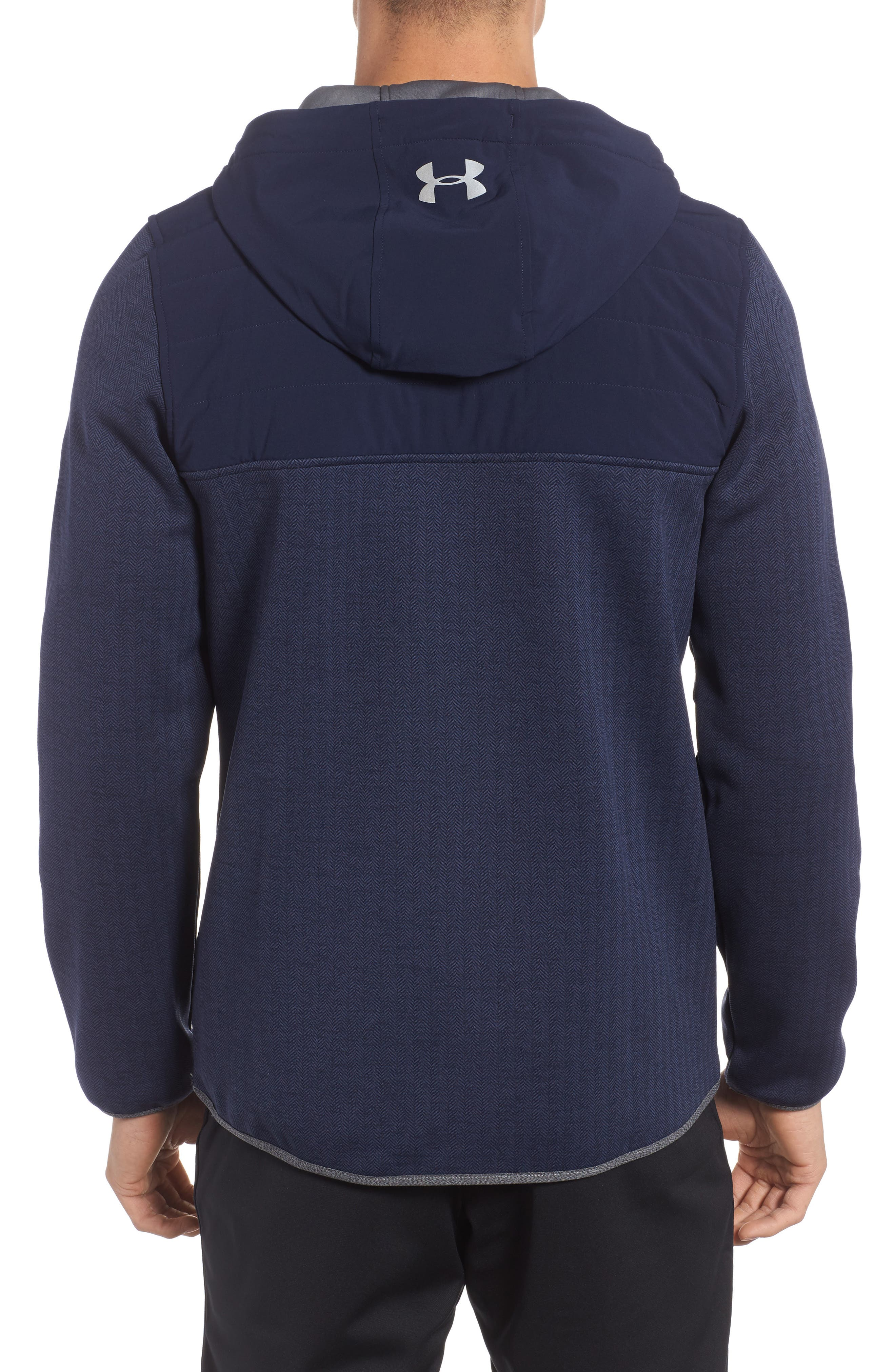Henley Hoodie,                             Alternate thumbnail 2, color,                             Midnight Navy / Reflective