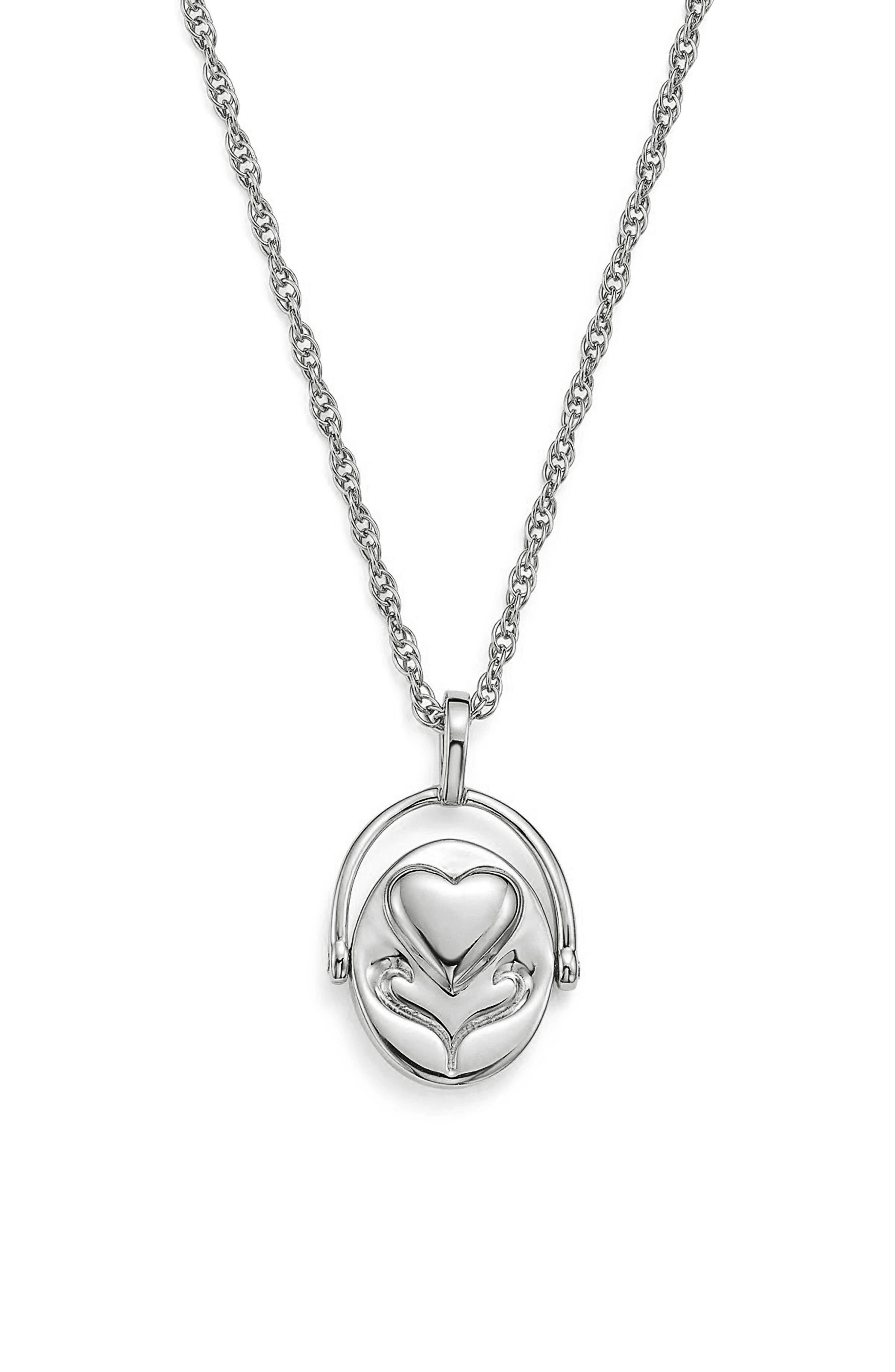 x Michelle Branch Spinning Pendant Necklace,                             Alternate thumbnail 2, color,                             Sterling Silver
