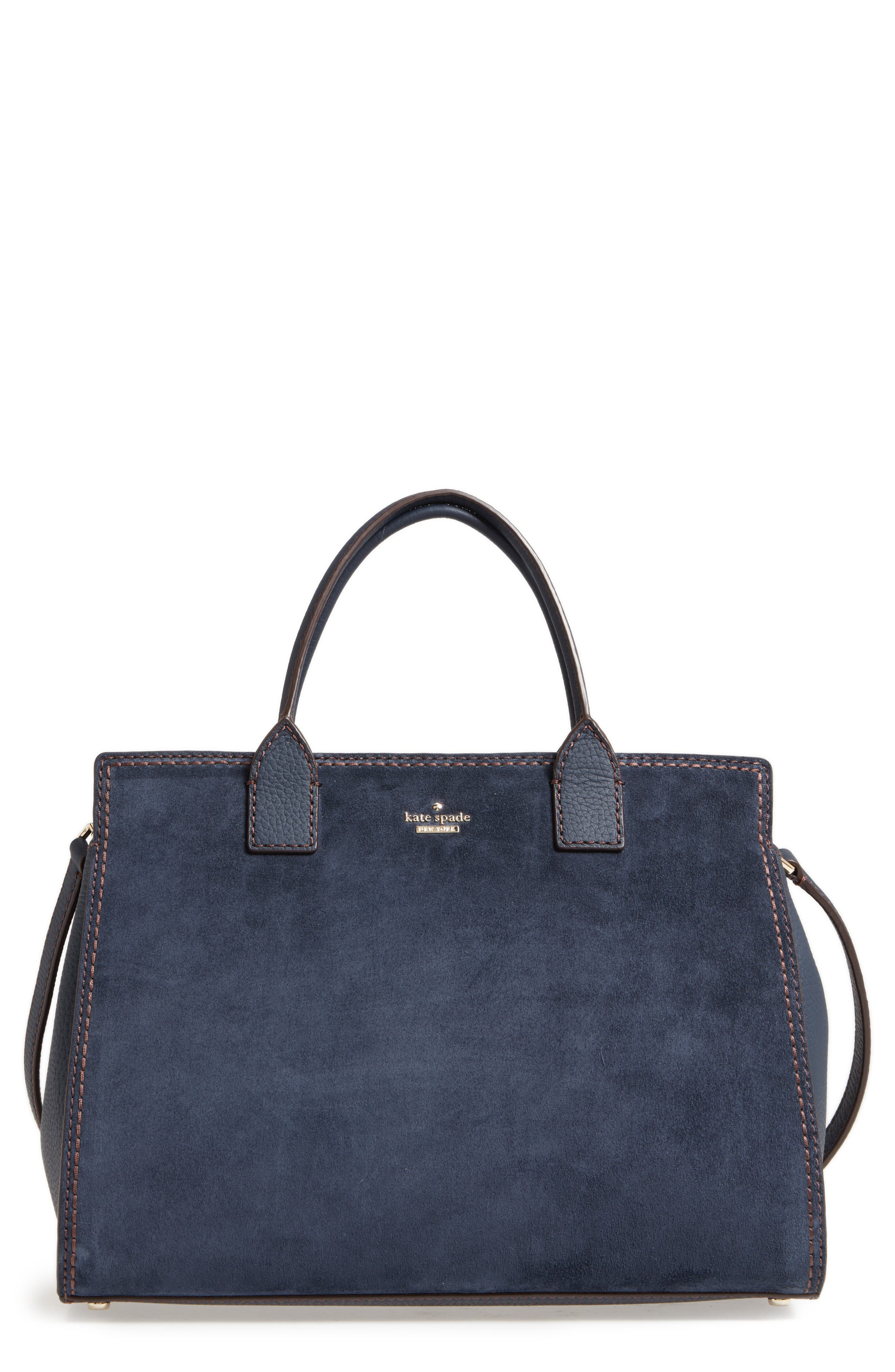 kate spade new york dunne lane lake suede satchel