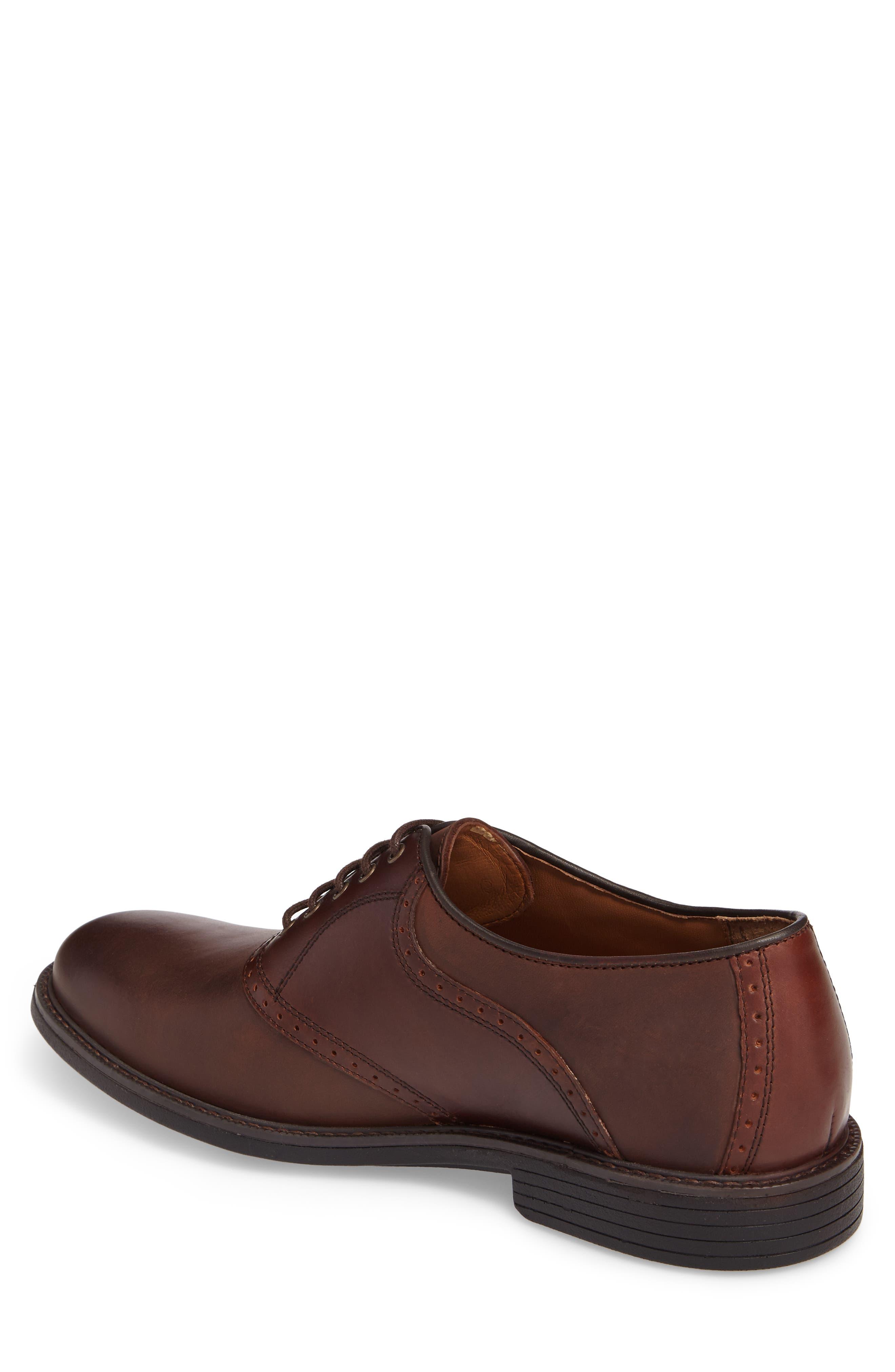 Hollis Waterproof Plain Toe Oxford,                             Alternate thumbnail 2, color,                             Brown