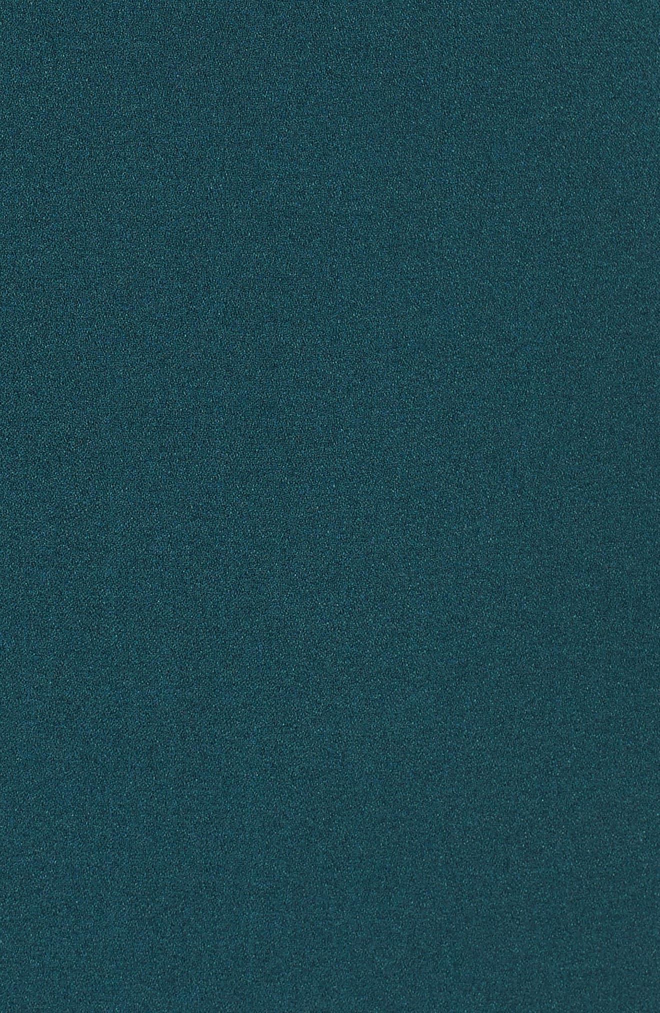Off the Shoulder Dress,                             Alternate thumbnail 5, color,                             Green Botanical