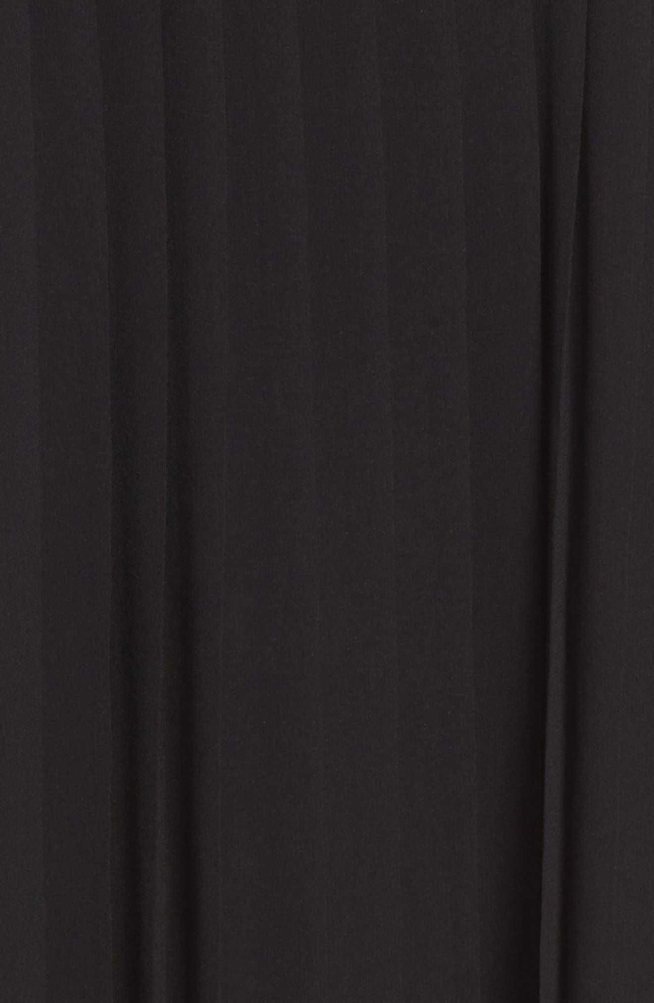 Morrison Shift Dress,                             Alternate thumbnail 5, color,                             Black